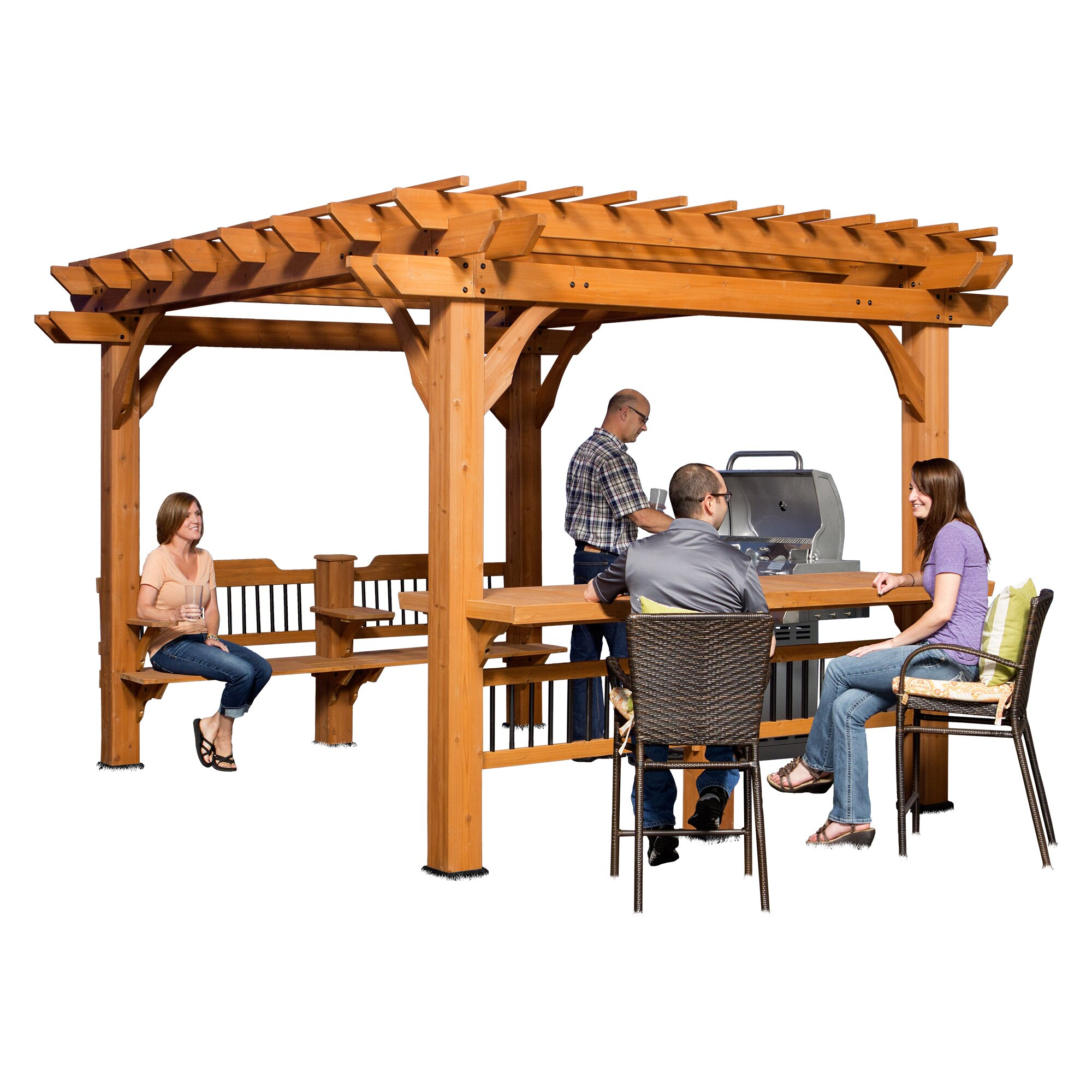 Backyard Discovery Oasis 12 Ft. W x 10 Ft. D Pergola | Wayfair