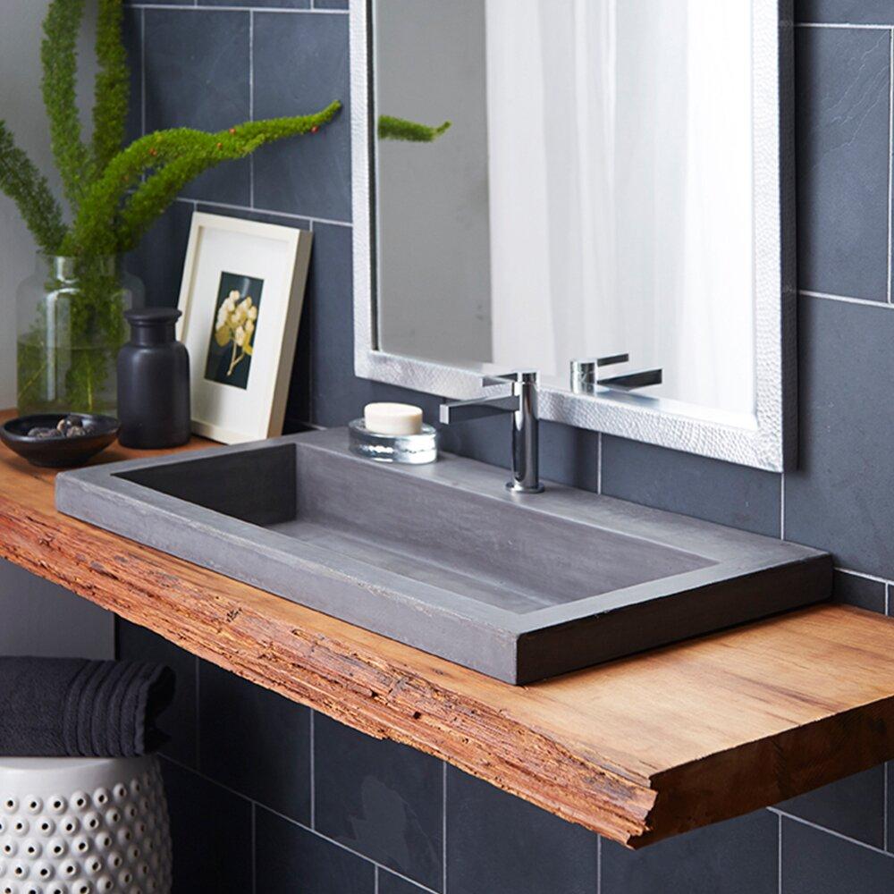 Native Trails Trough Stone Bathroom Sink & Reviews
