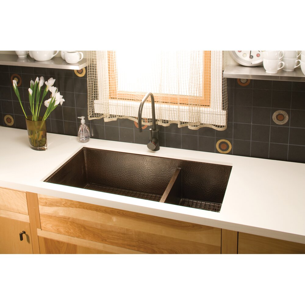Native Trails Cocina 40 X 22 Duet Pro Copper Kitchen Sink Reviews Wayfair