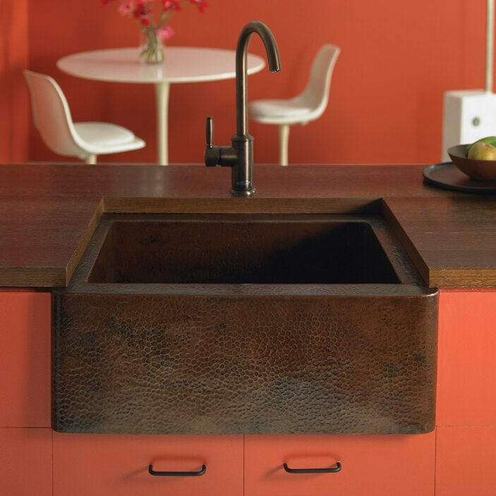 "Native Trails Farmhouse 25 5"" x 22"" Copper Kitchen Sink"