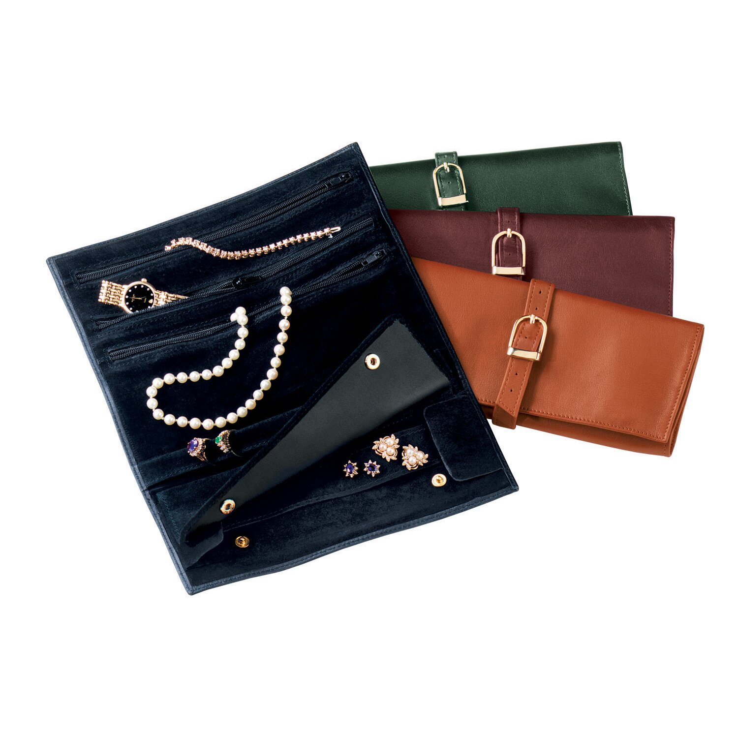 Royce Leather Royce Leather Suede Lined Jewelry Roll ...