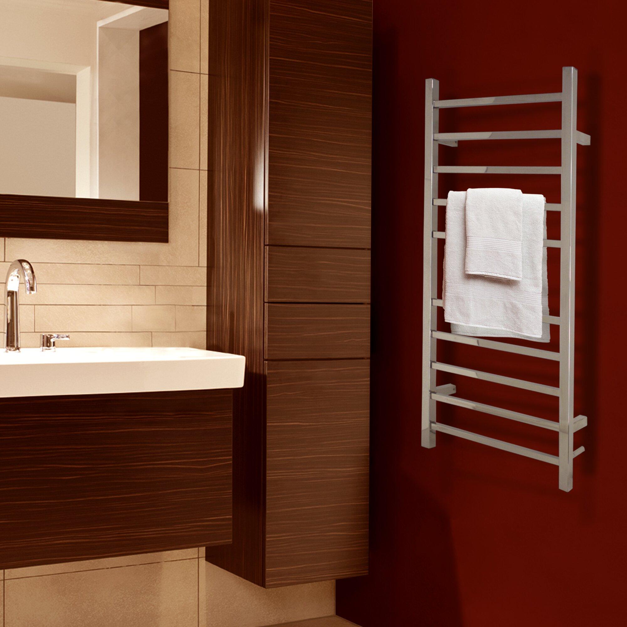 Warmlyyours Metropolitan Wall Mount Electric Towel Warmer