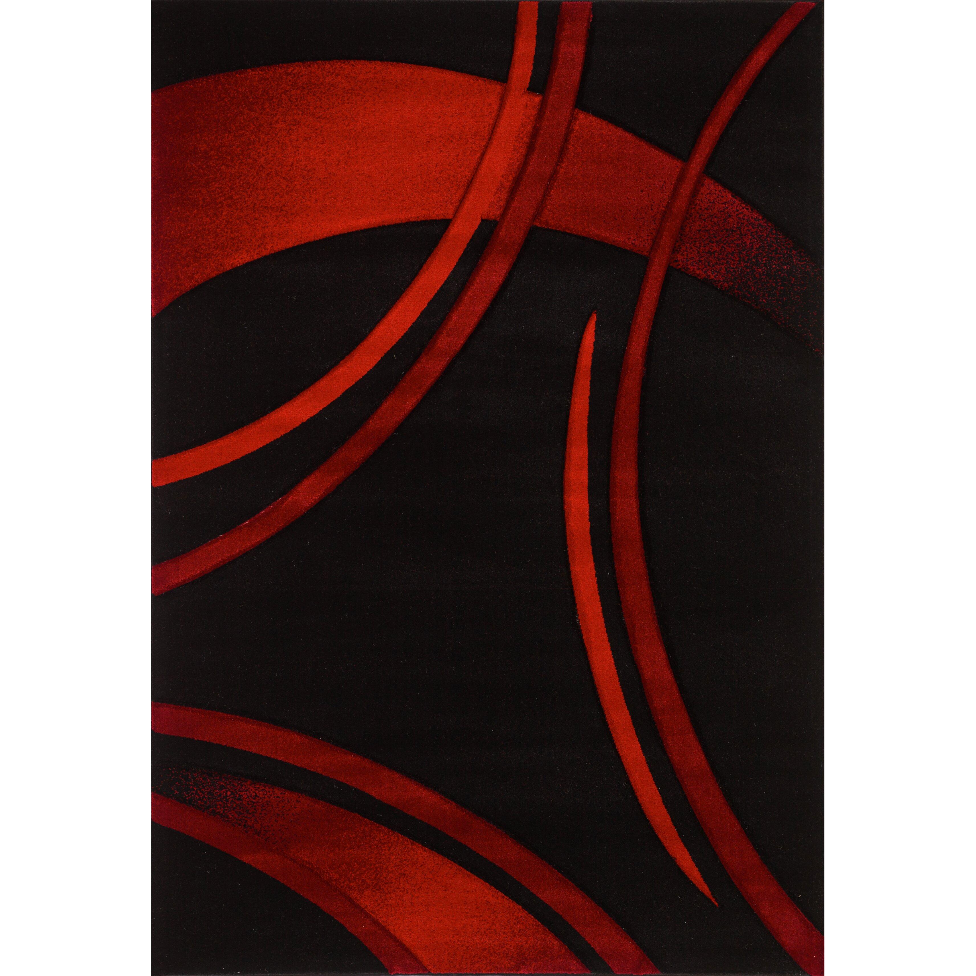 Segma Sofia Black Red Area Rug Amp Reviews Wayfair Ca