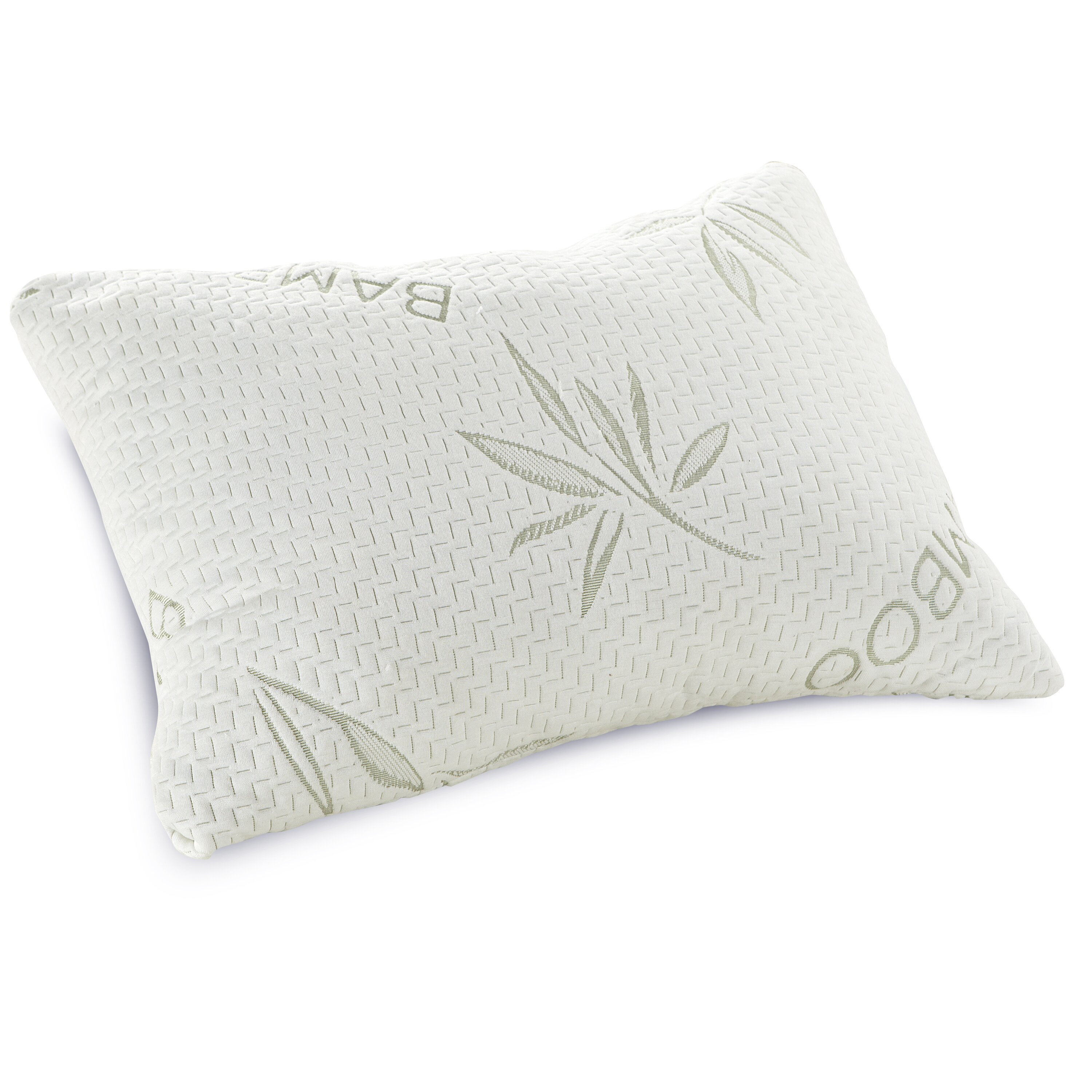 Classic Brands Shredded Memory Foam Queen Pillow with Bamboo Rayon Cover & Reviews Wayfair