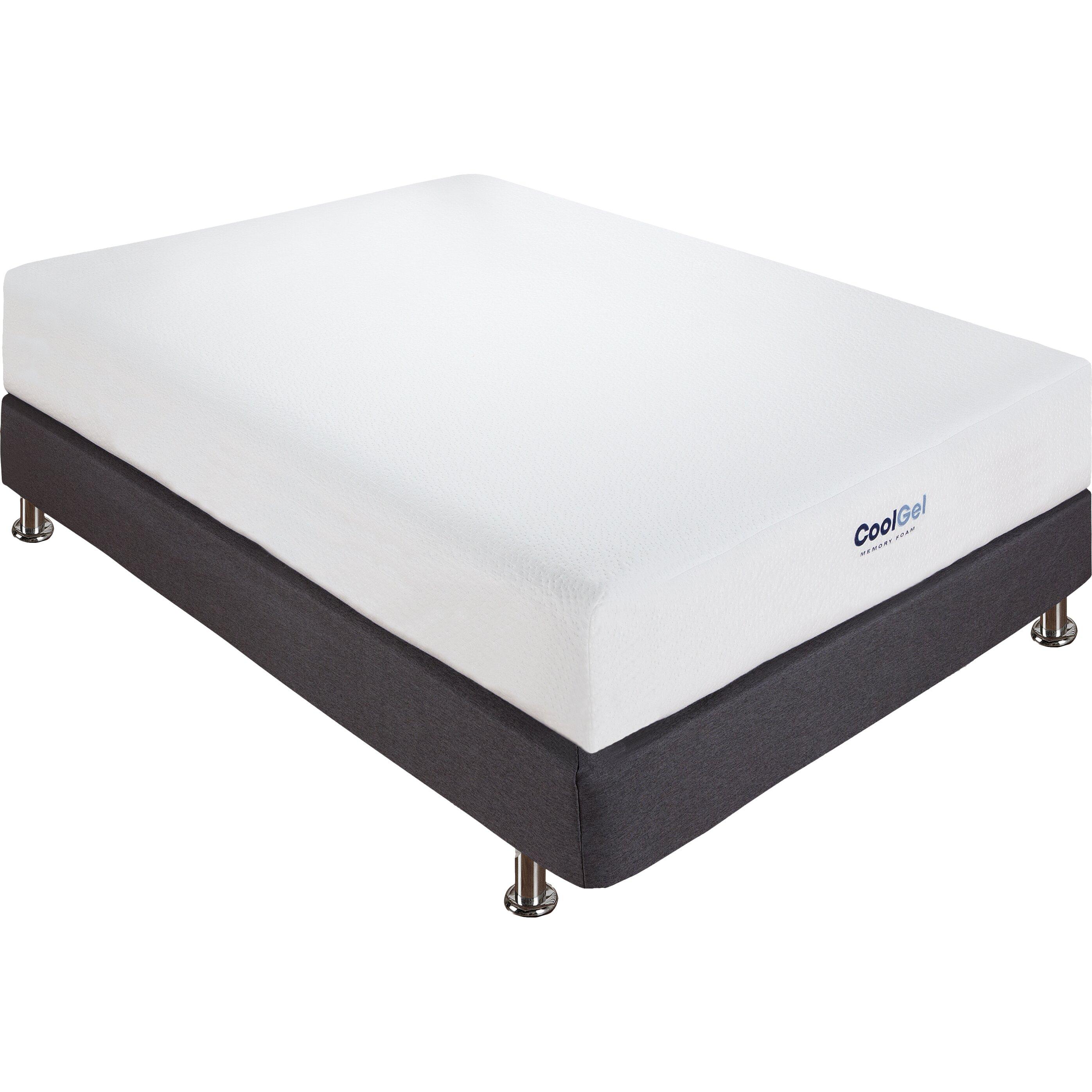 classic brands cool gel 8 gel memory foam mattress reviews wayfair. Black Bedroom Furniture Sets. Home Design Ideas