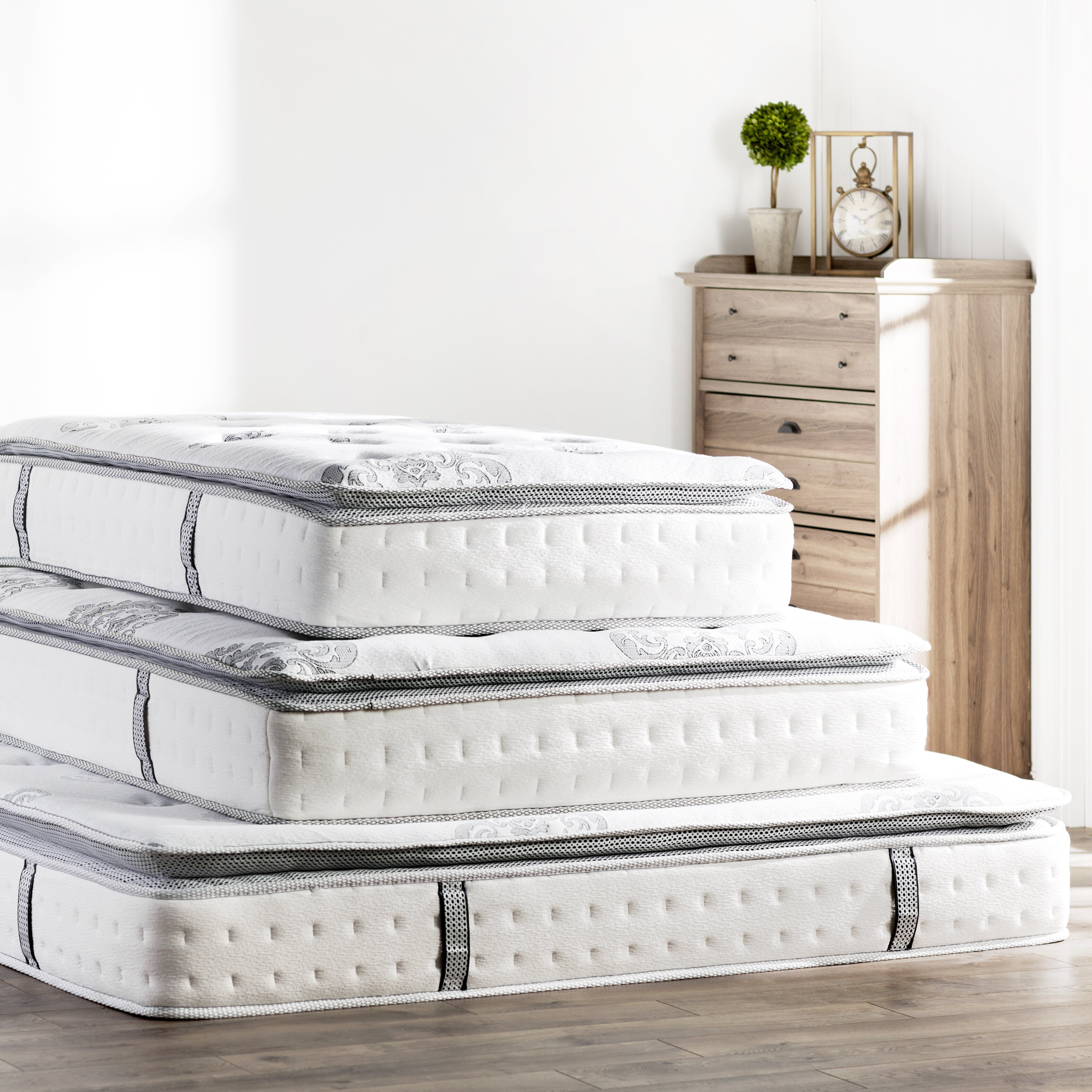 "Classic Brands Mercer 12"" Plush Mattress & Reviews"