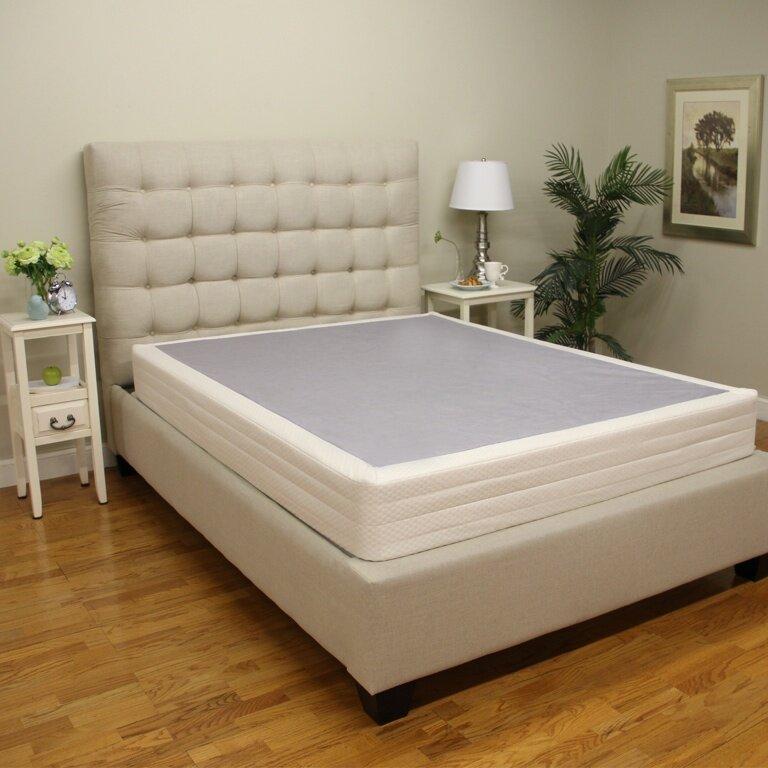 classic brands 8 instant foundation box spring for bed mattress reviews wayfair. Black Bedroom Furniture Sets. Home Design Ideas