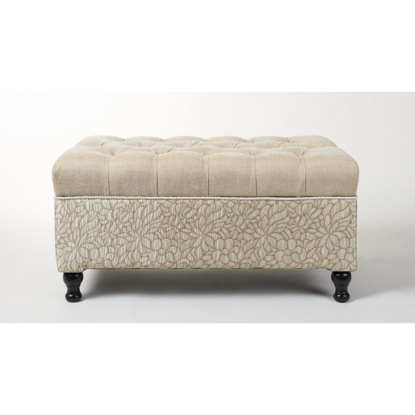 jennifer taylor naomi upholstered storage bedroom bench & reviews | wayfair