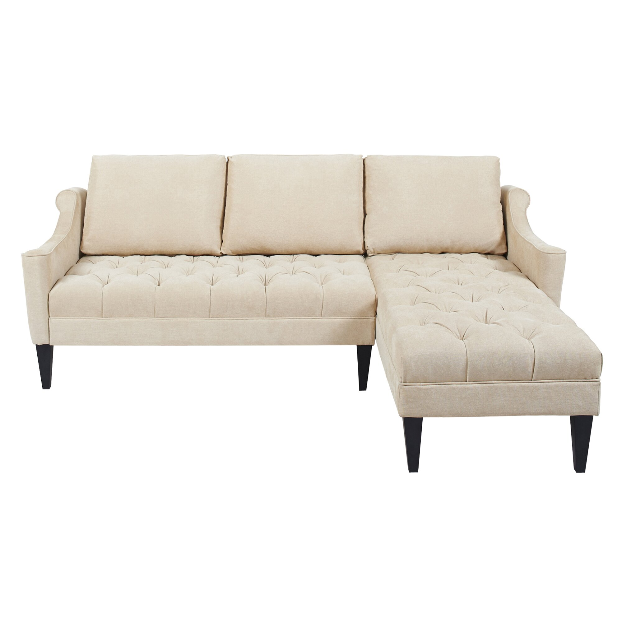 Jennifer Taylor Amelie Reversible Chaise Sectional Reviews Wayfair