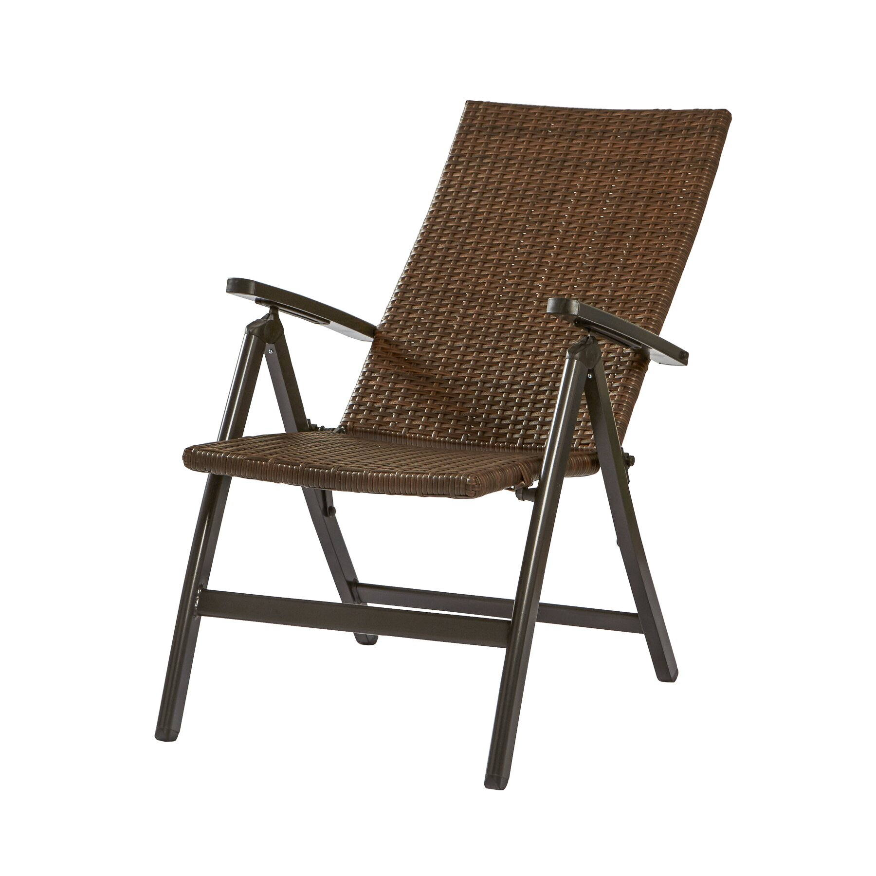 Greendale home fashions wicker outdoor reclining zero for Reclining patio chair