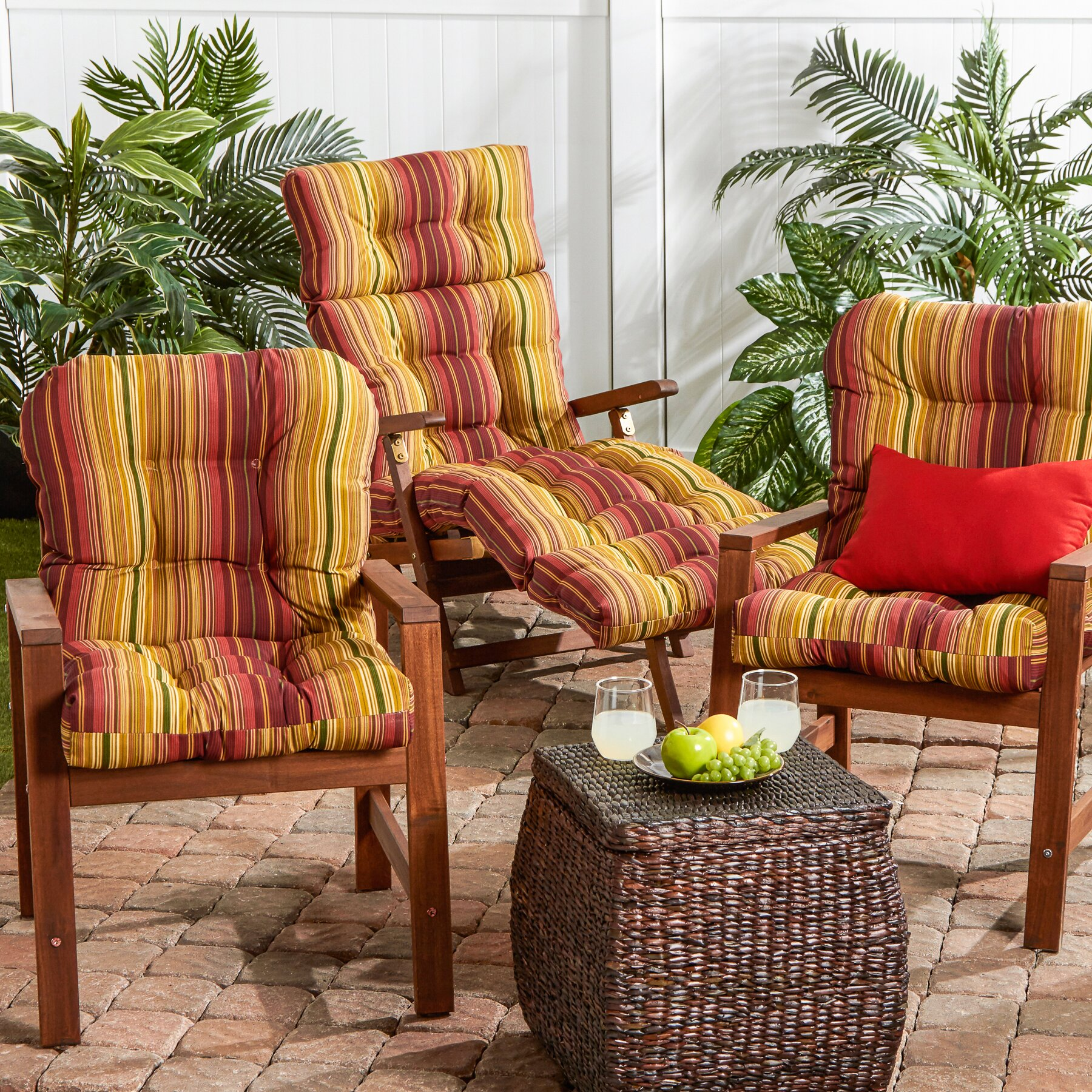 Greendale Home Fashions Outdoor Dining Chair Cushion