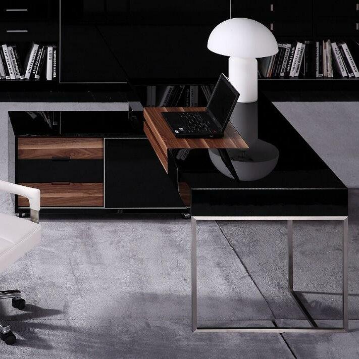 Vig Furniture Ezra Computer Desk With Keyboard Tray