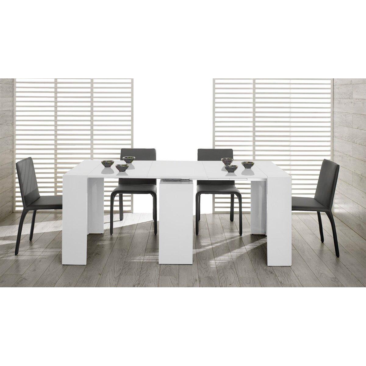 Vig Furniture Modrest Morph Ultra Compact Extendable Dining Table Reviews Wayfair