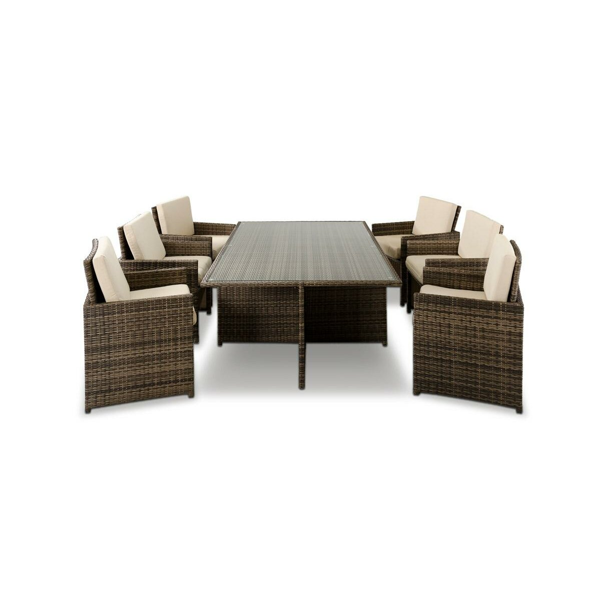 Vig furniture renava barcelona 13 piece dining set for Furniture 2 day shipping