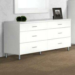 Vig Furniture Modrest Bravo 6 Drawer Dresser Reviews Wayfair