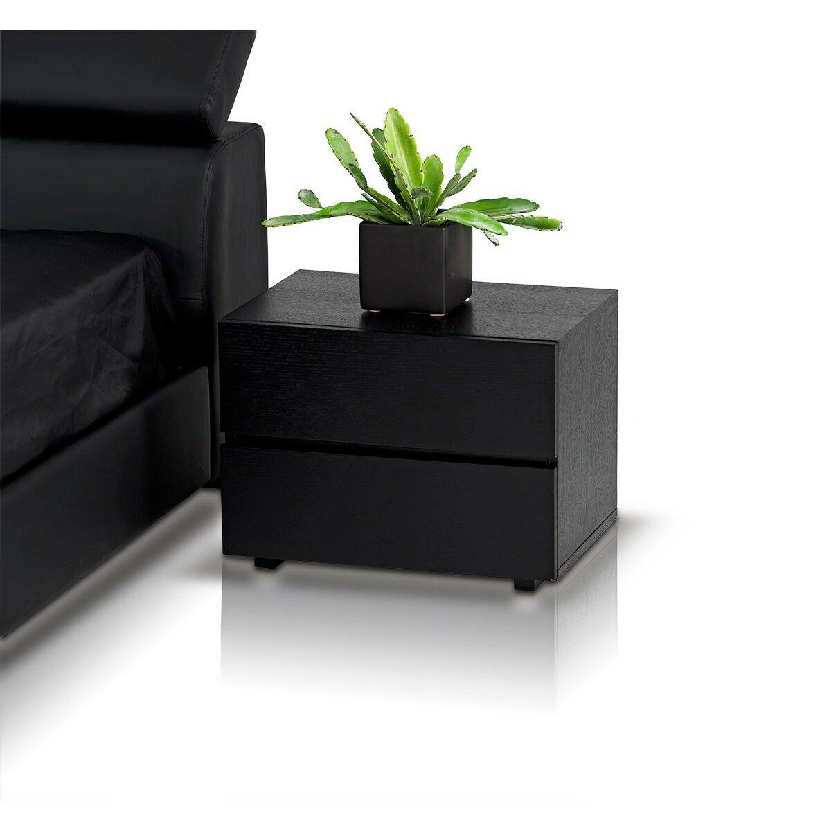 Vig Furniture Modrest Logan 2 Drawer Nightstand Reviews Wayfair