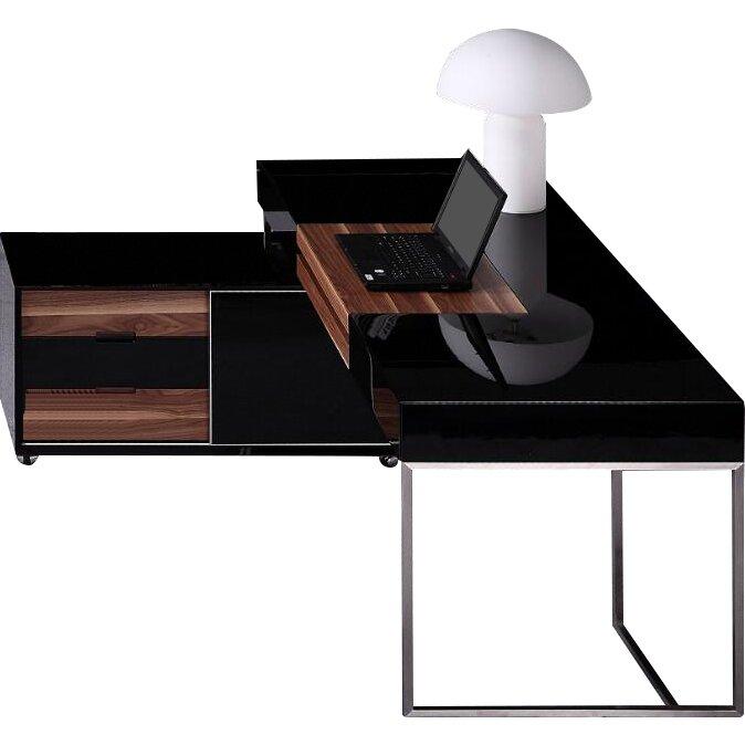 Vig Furniture Ezra Computer Desk With Keyboard Tray Reviews Wayfair