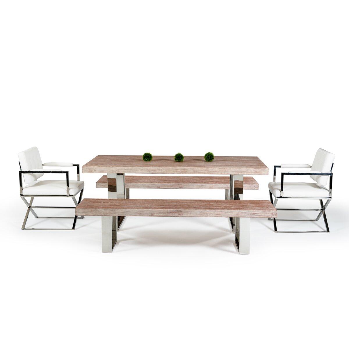 Vig Furniture Modrest Lola Dining Table Reviews Wayfair