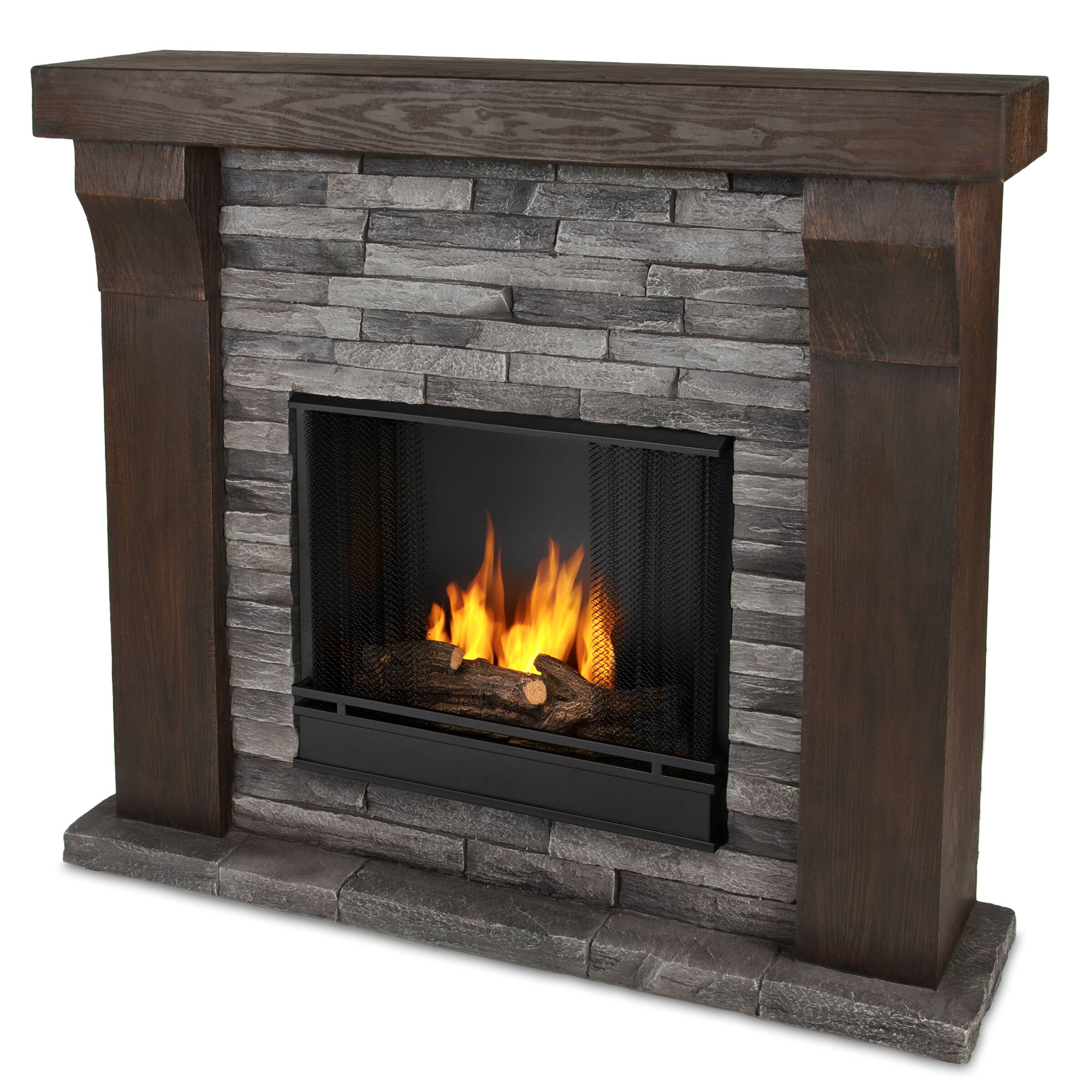 real flame avondale cast mantel gel fuel fireplace wayfair. Black Bedroom Furniture Sets. Home Design Ideas
