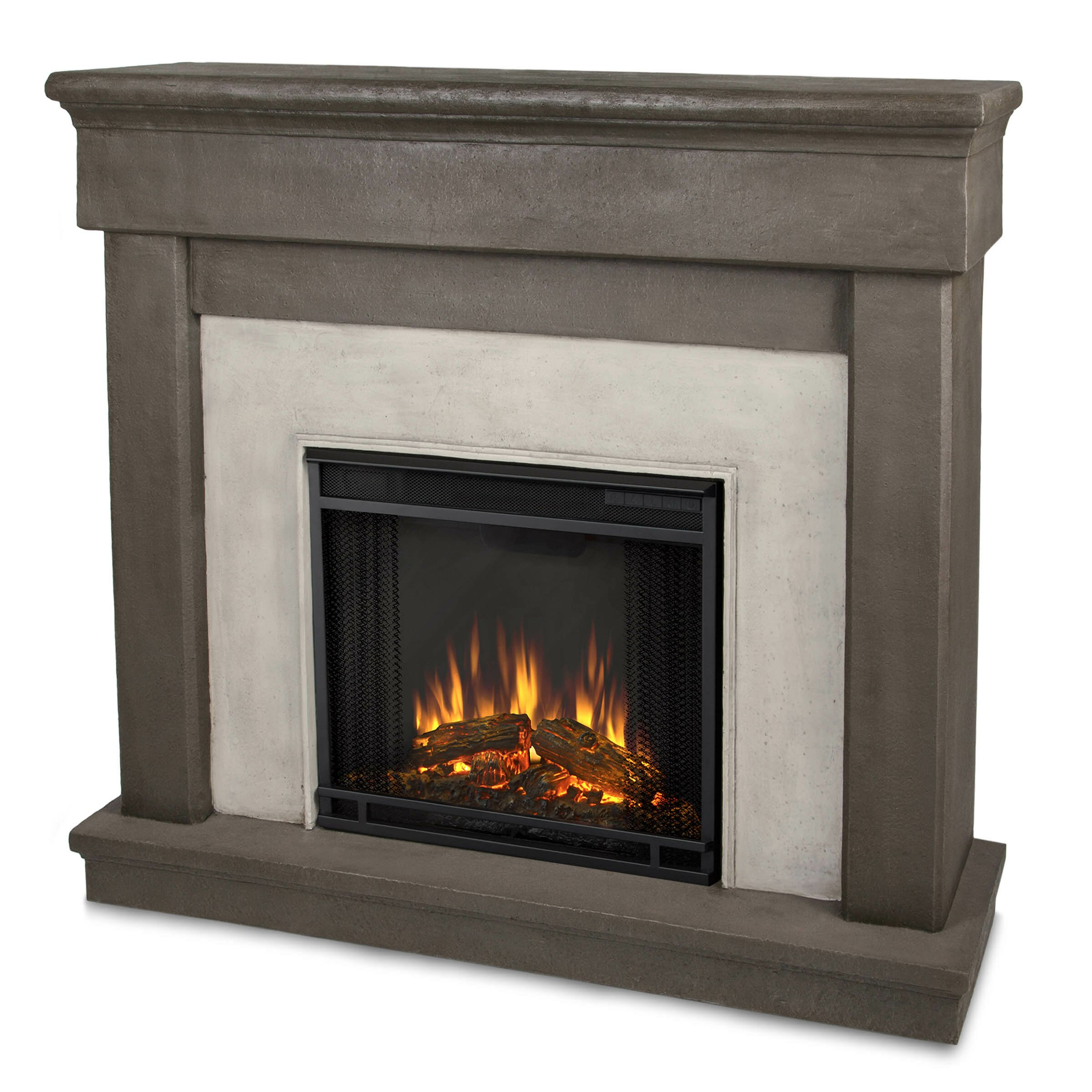Real Flame Cast Mantel Cascade Electric Fireplace Reviews Wayfair
