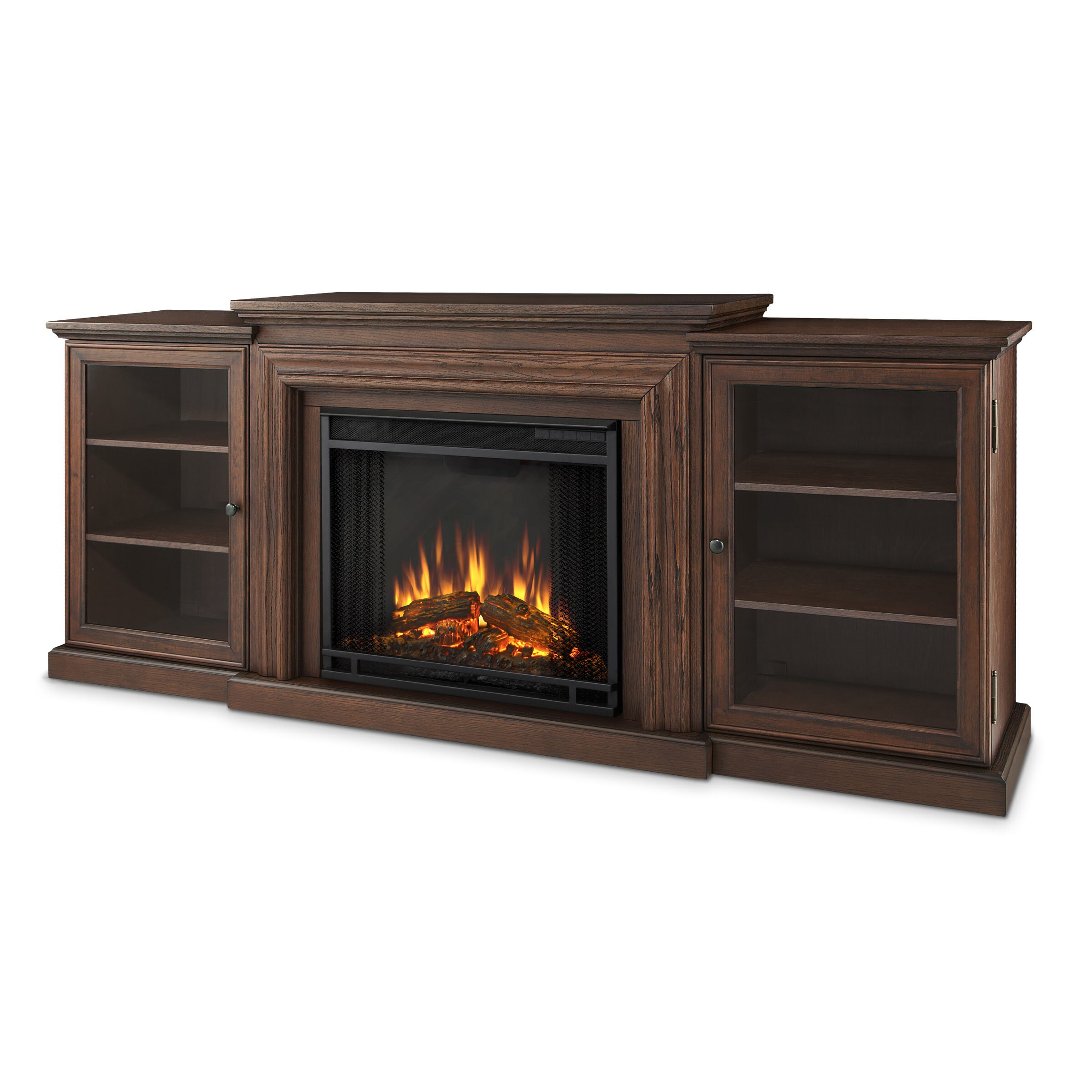 real flame frederick tv stand with electric fireplace reviews wayfair. Black Bedroom Furniture Sets. Home Design Ideas