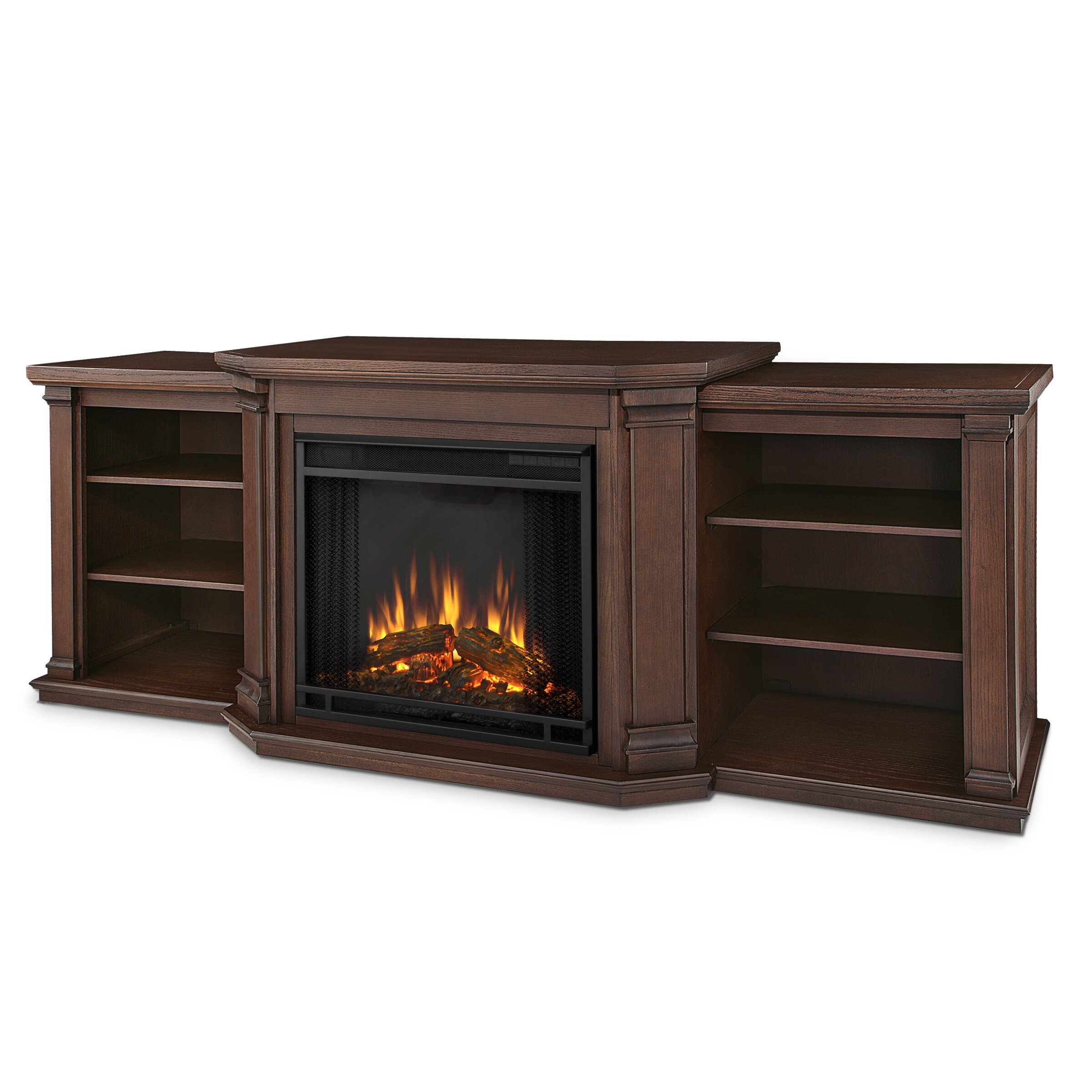 Real Flame Valmont TV Stand with Electric Fireplace ...