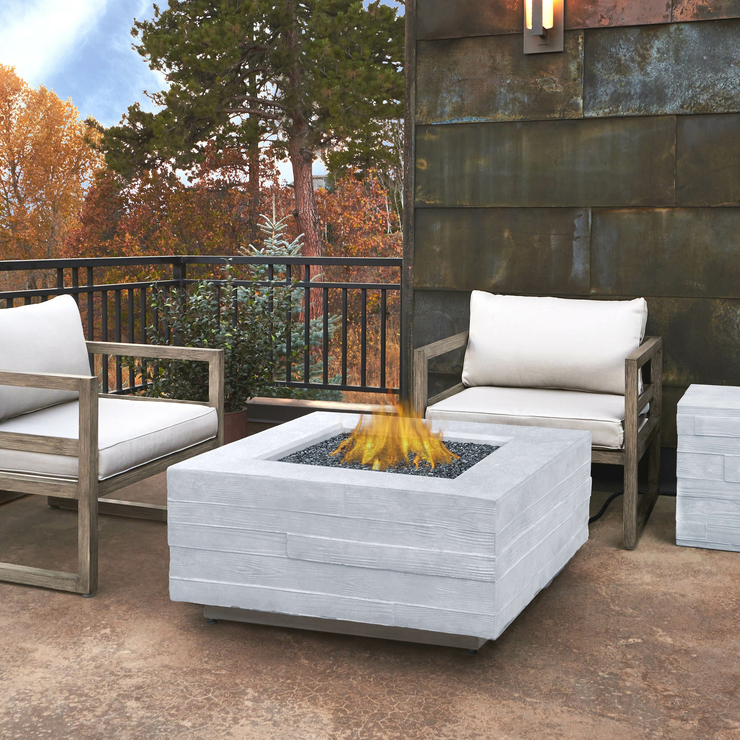 Real Flame Board Form Propane Outdoor Fire Pit Table ... on Outdoor Fireplace Pit id=87999