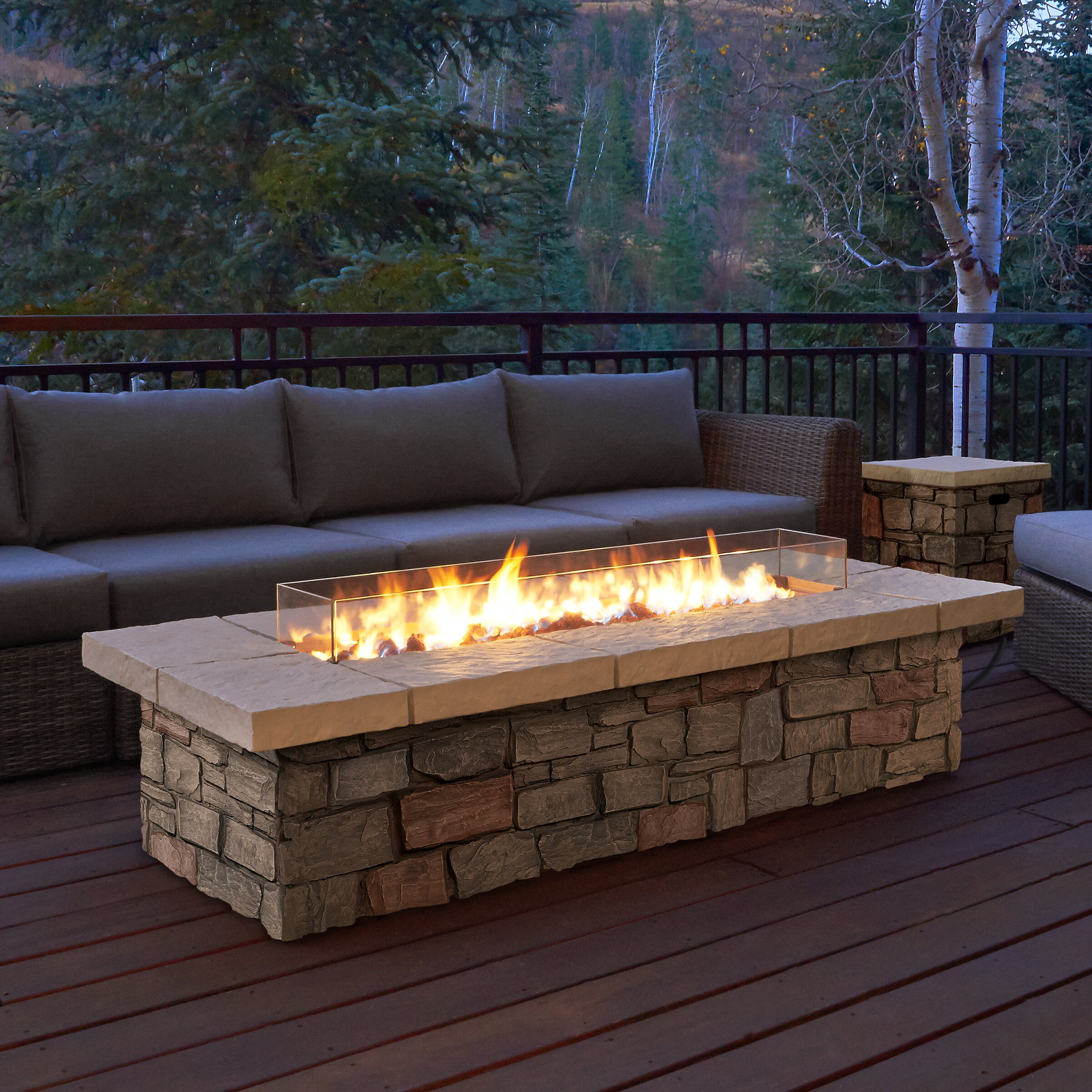Real Flame Sedona Propane Fire Pit Table & Reviews