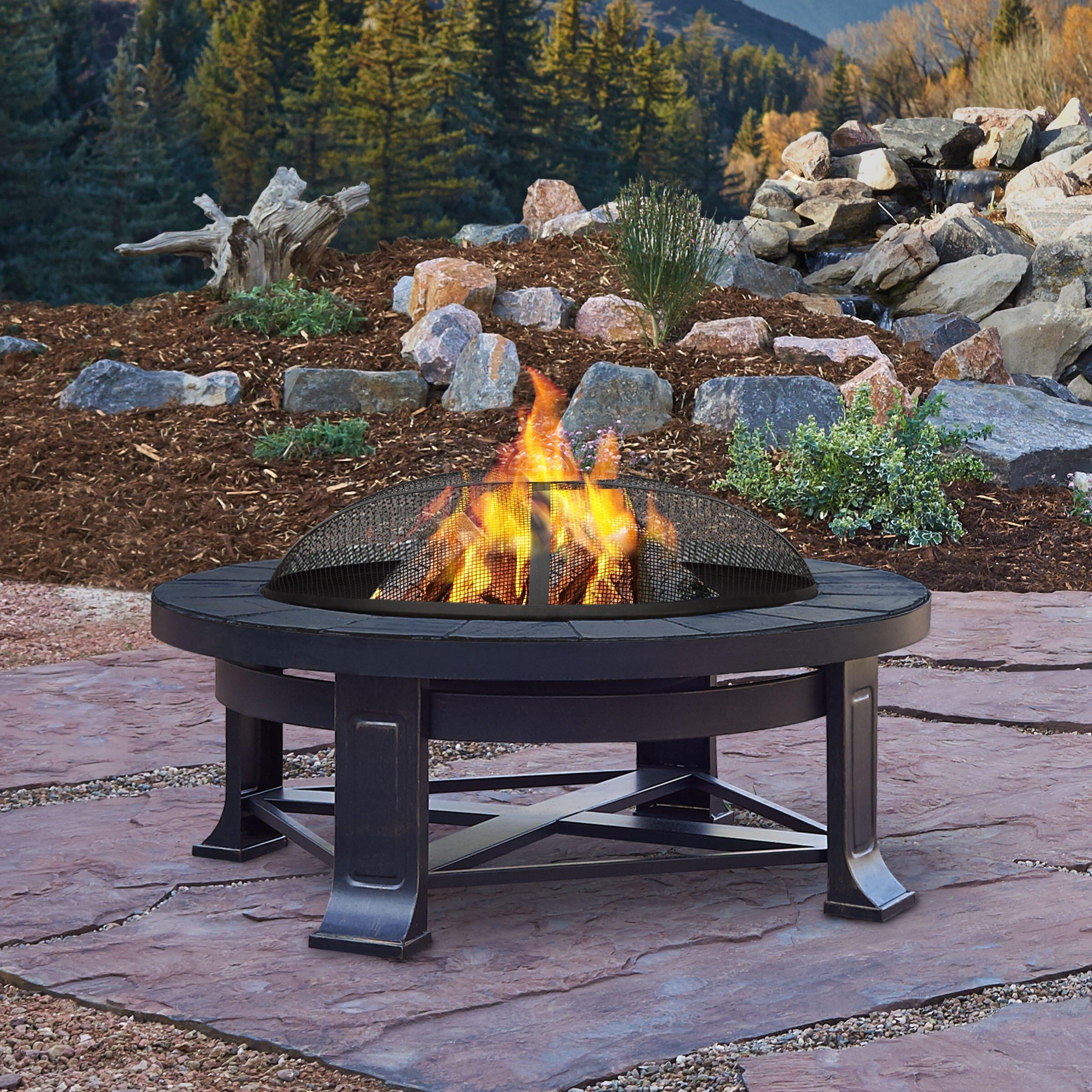 Real Flame Steel Wood Fire Pit Amp Reviews Wayfair Ca