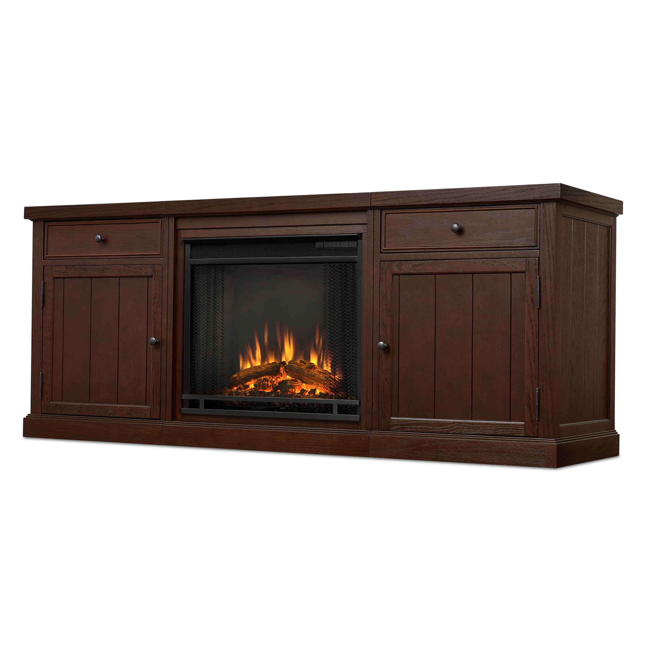 Real Flame Cassidy Entertainment Unit With Electric Fireplace Reviews Wayfair