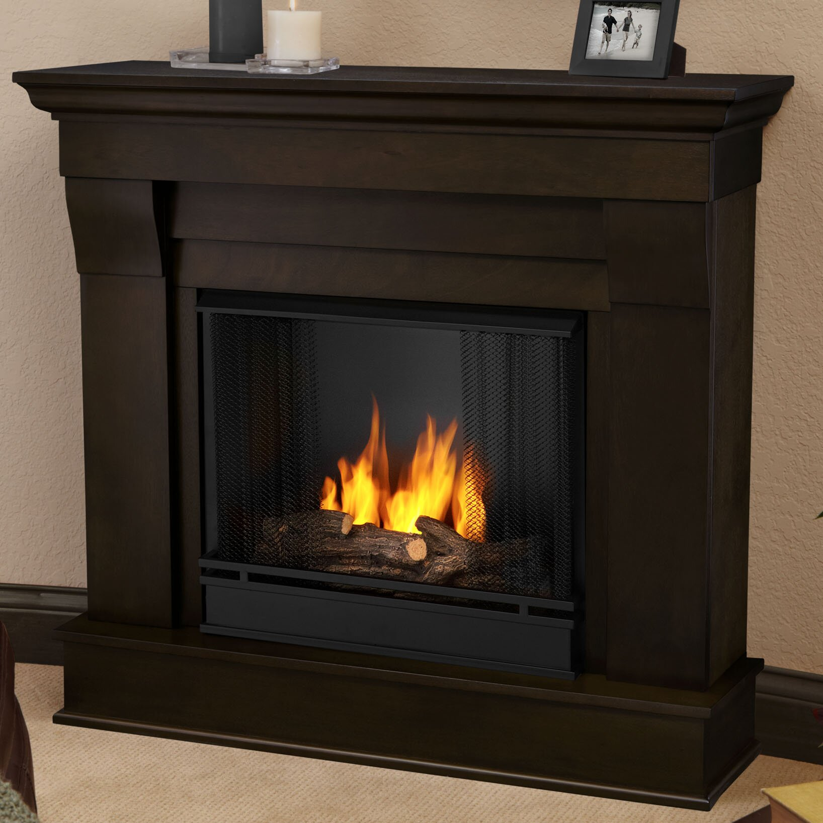 real flame chateau gel fuel fireplace reviews wayfair. Black Bedroom Furniture Sets. Home Design Ideas