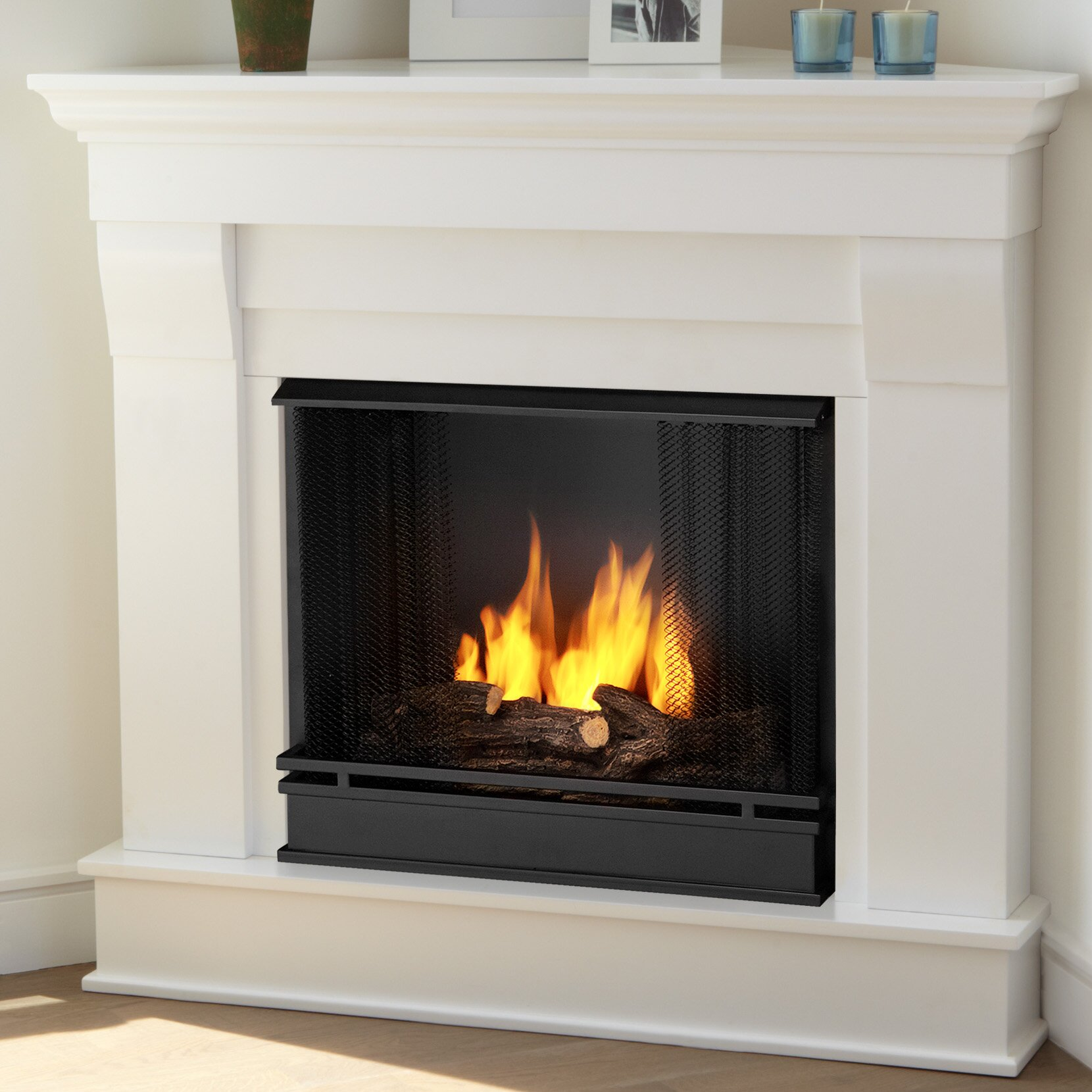 Real Flame Chateau Corner Gel Fuel Fireplace & Reviews