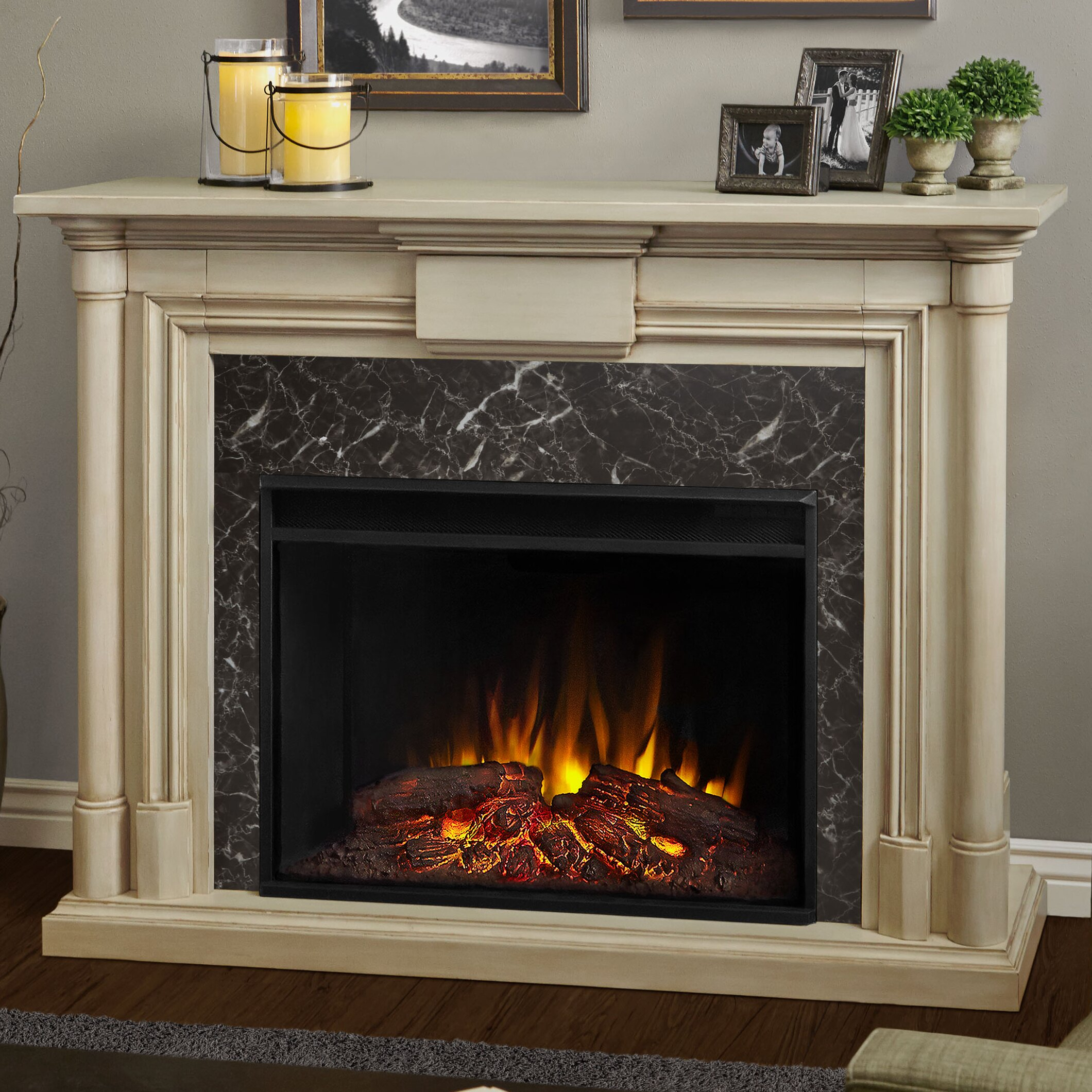 Real Flame Maxwell Grand Electric Fireplace Reviews Wayfair
