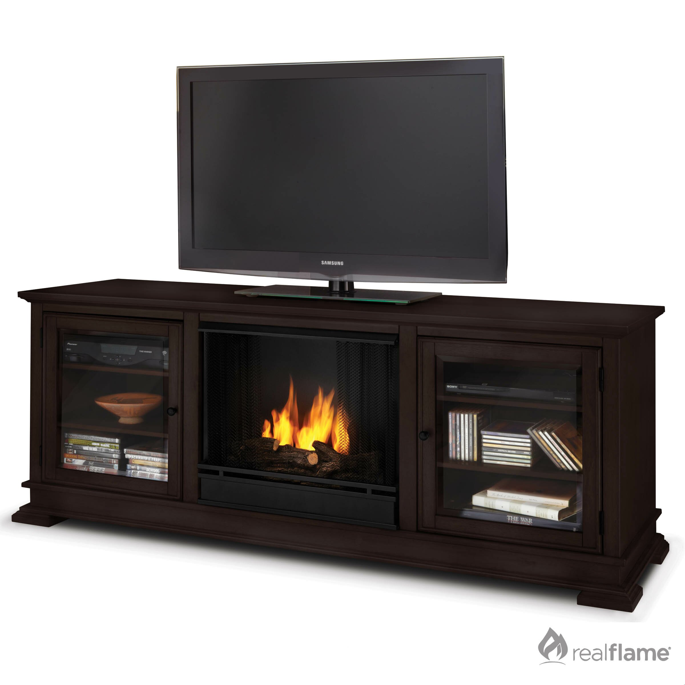 Real Flame Hudson Ventless Tv Stand With Electric Fireplace Reviews Wayfair