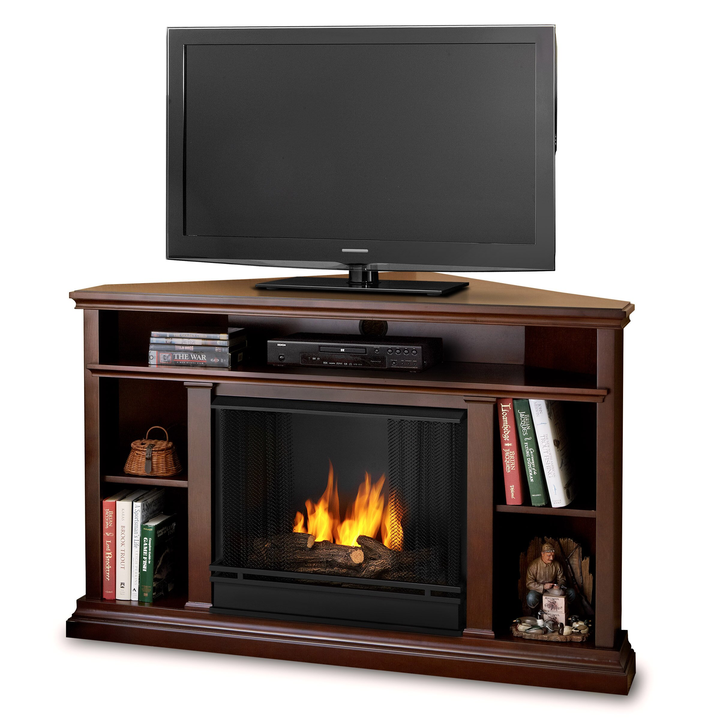 Real flame churchill tv stand reviews wayfair for Wayfair gel fireplace