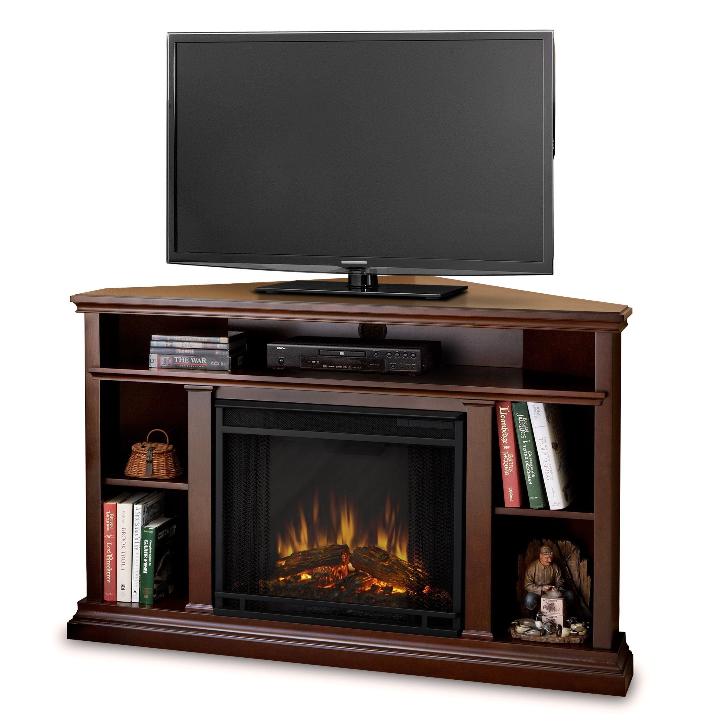 Real Flame Churchill Tv Stand With Electric Fireplace Reviews Wayfair