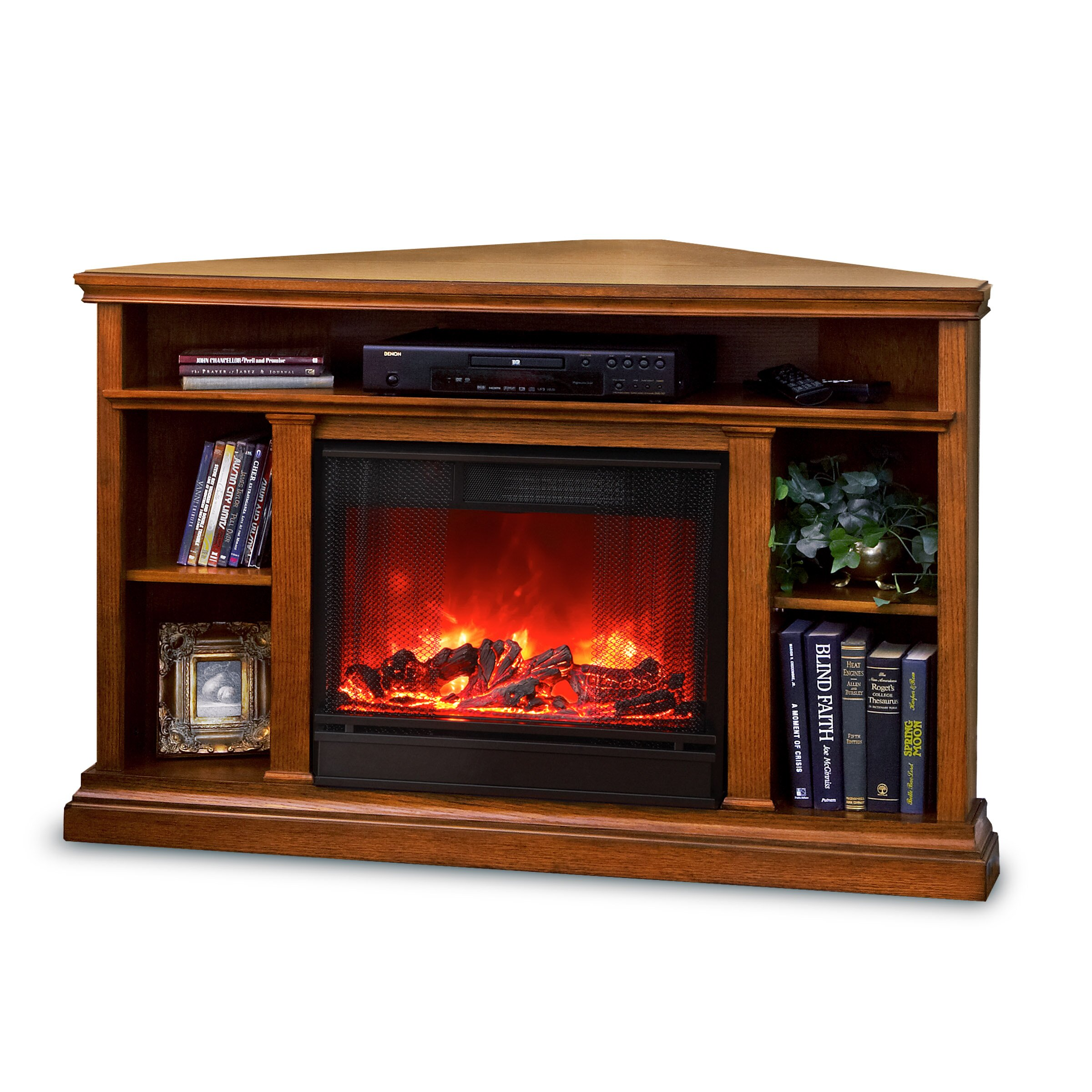 real flame churchill tv stand with electric fireplace reviews wayfair. Black Bedroom Furniture Sets. Home Design Ideas