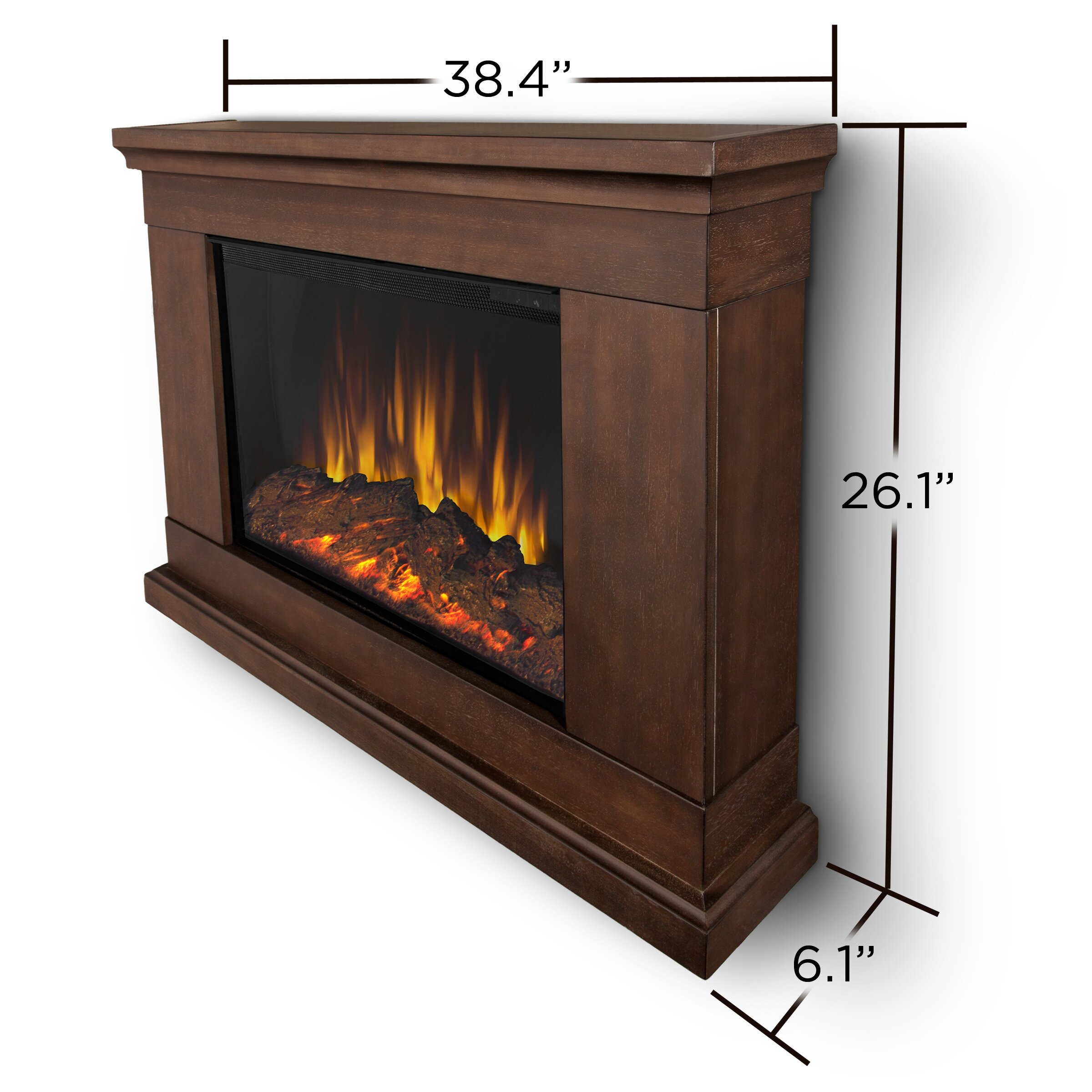 slim fireplace wall mount real flame electric rona logs - Electric Fireplace Logs