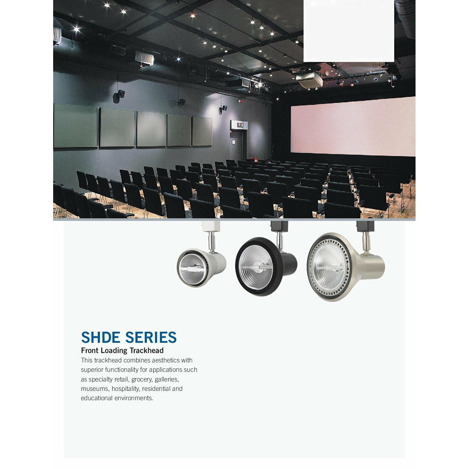 Commercial Grade Led Track Lighting: Lithonia Lighting SHDE Series 1 Light Front Loading