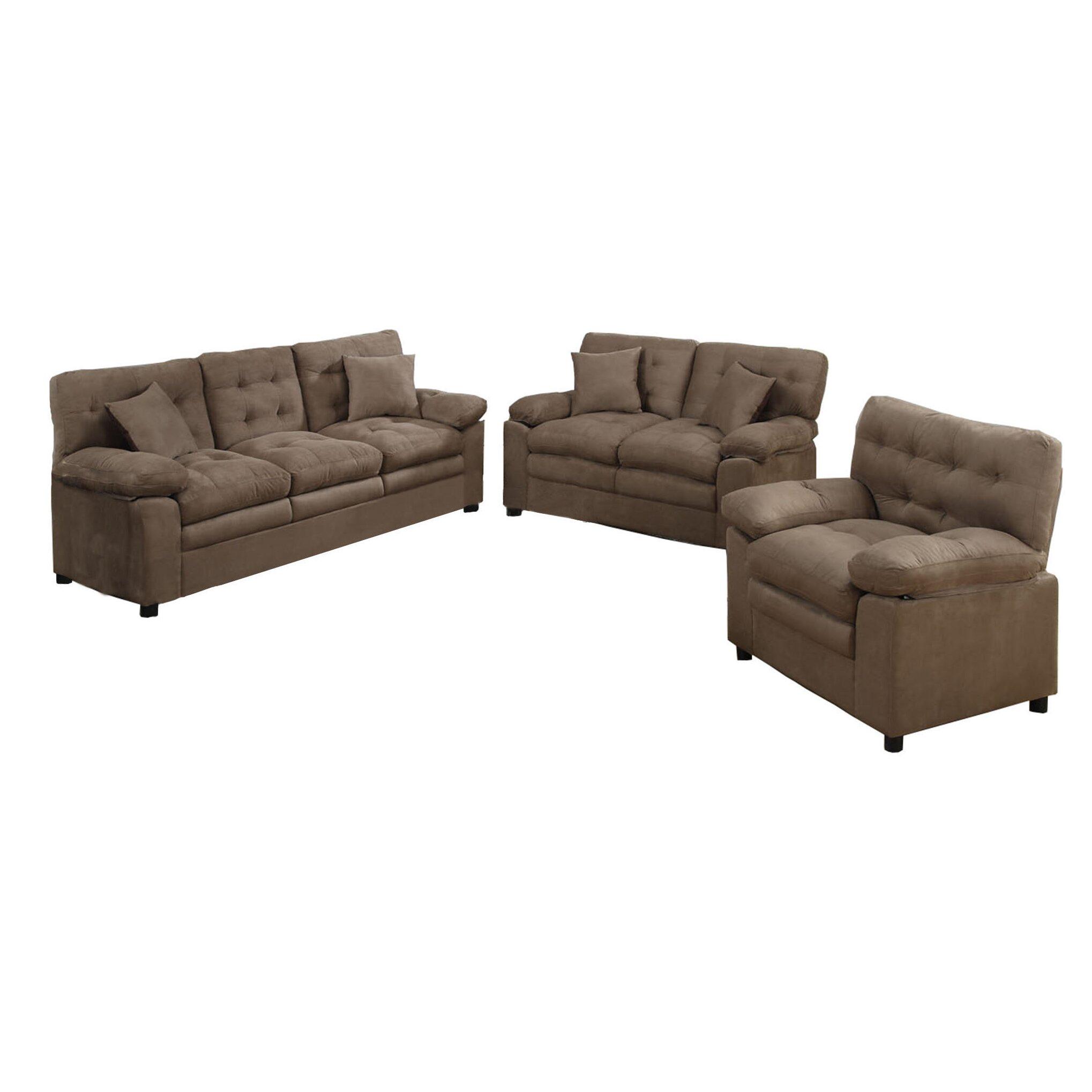 Poundex Bobkona Colona 3 Piece Living Room Set Amp Reviews