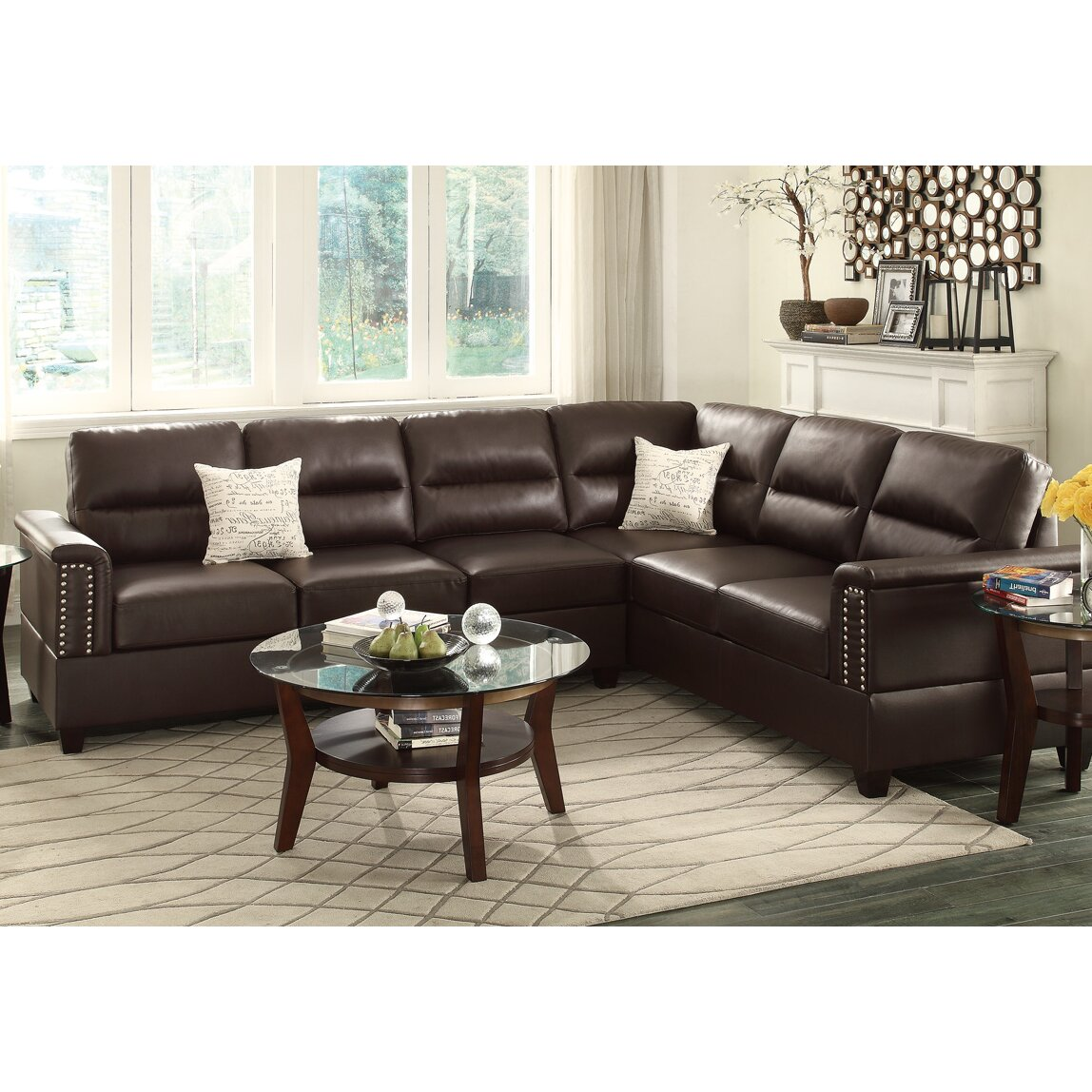 balen bobkona pc set sectional chocolate