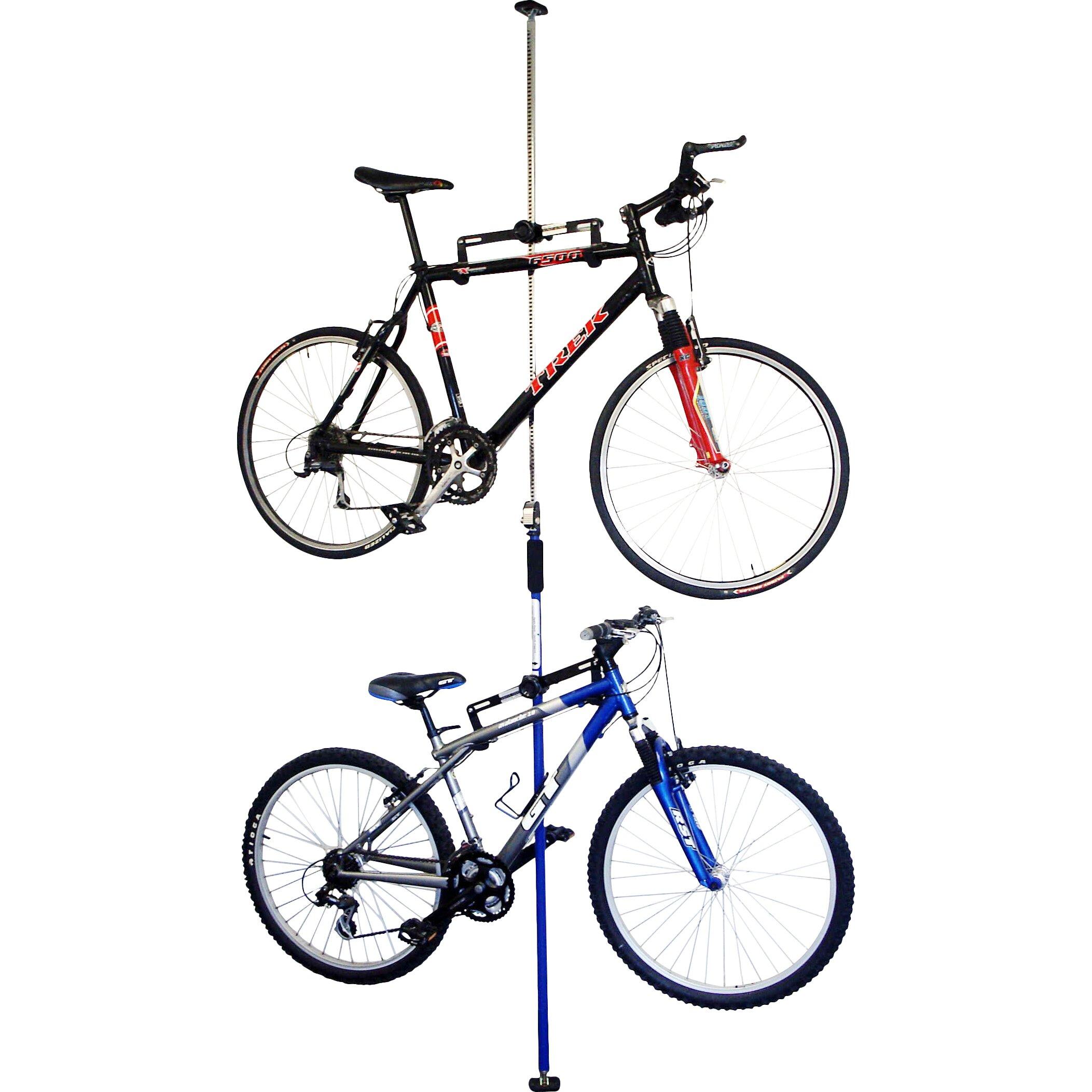 stoneman sports 2 bike q rack system ceiling mounted bike. Black Bedroom Furniture Sets. Home Design Ideas