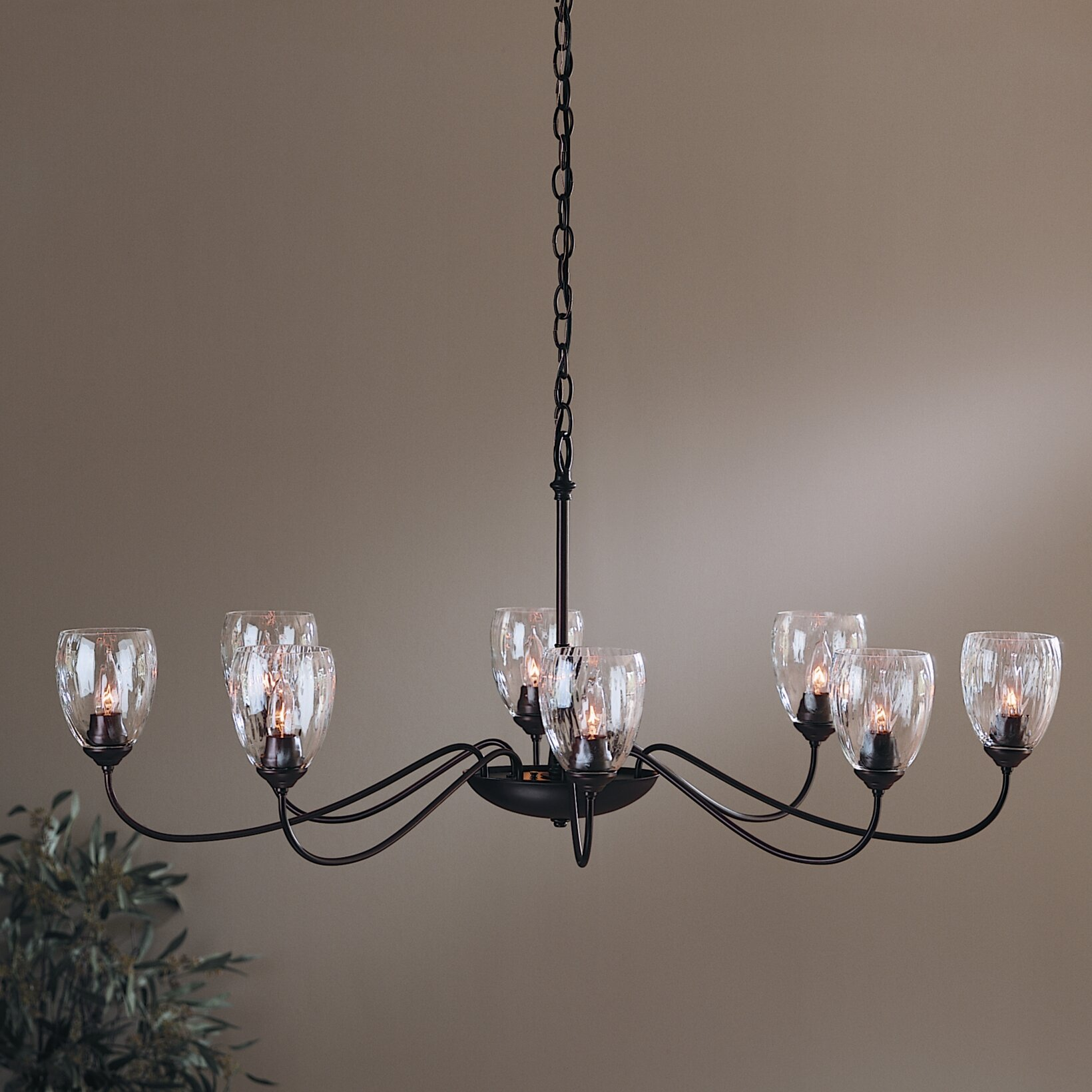 Hubbardton Forge 8 Light Shaded Chandelier & Reviews