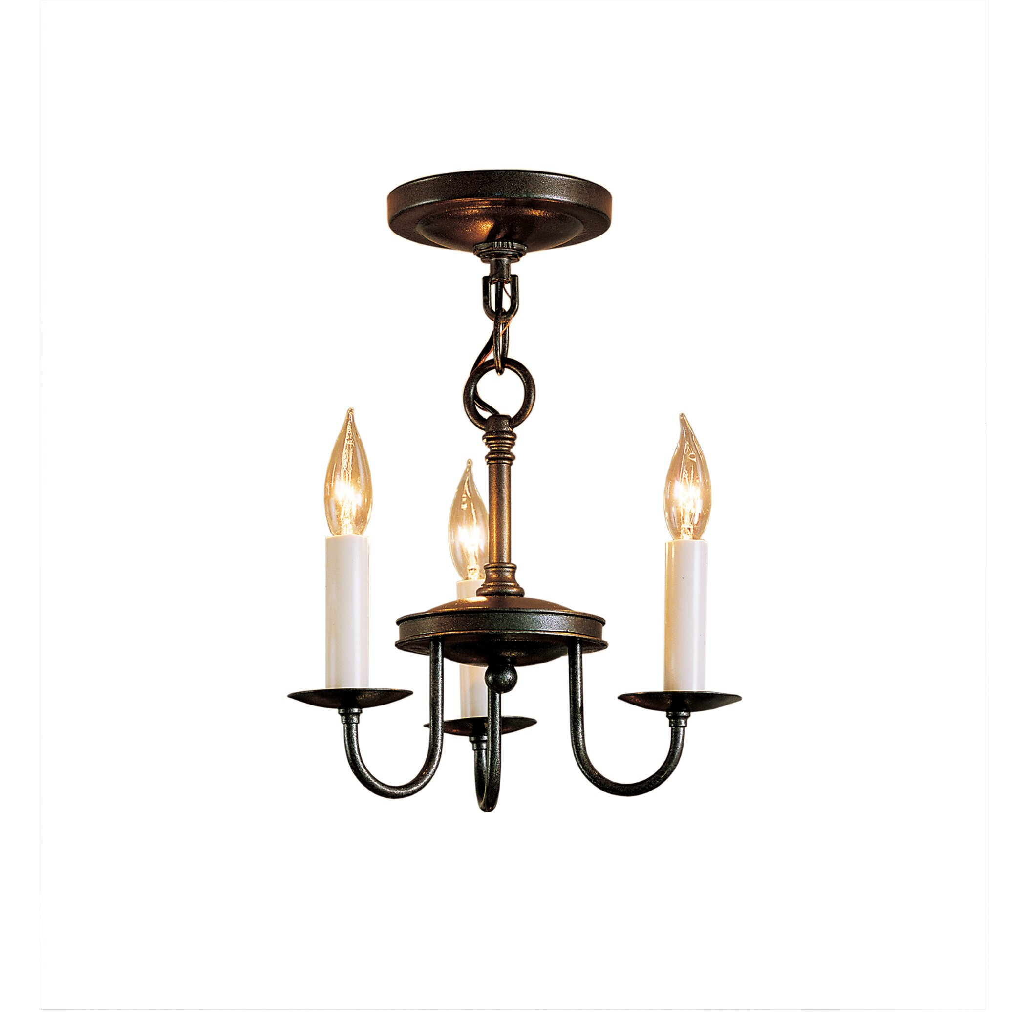 Hubbardton Forge 3 Light Chandelier With 3 Arms & Reviews