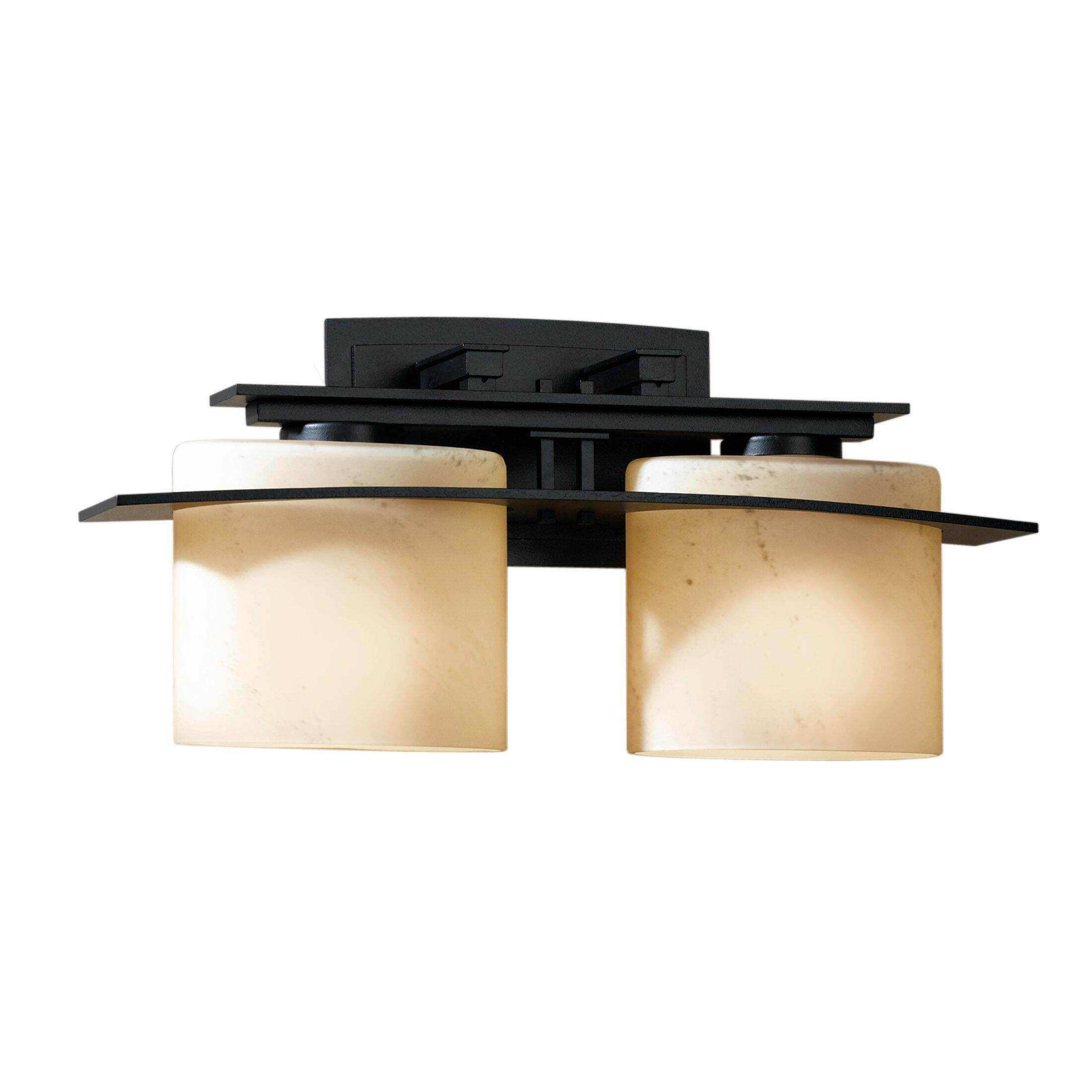 Hubbardton forge ellipse 2 light wall sconce wayfair for Hubbardton forge bathroom lighting
