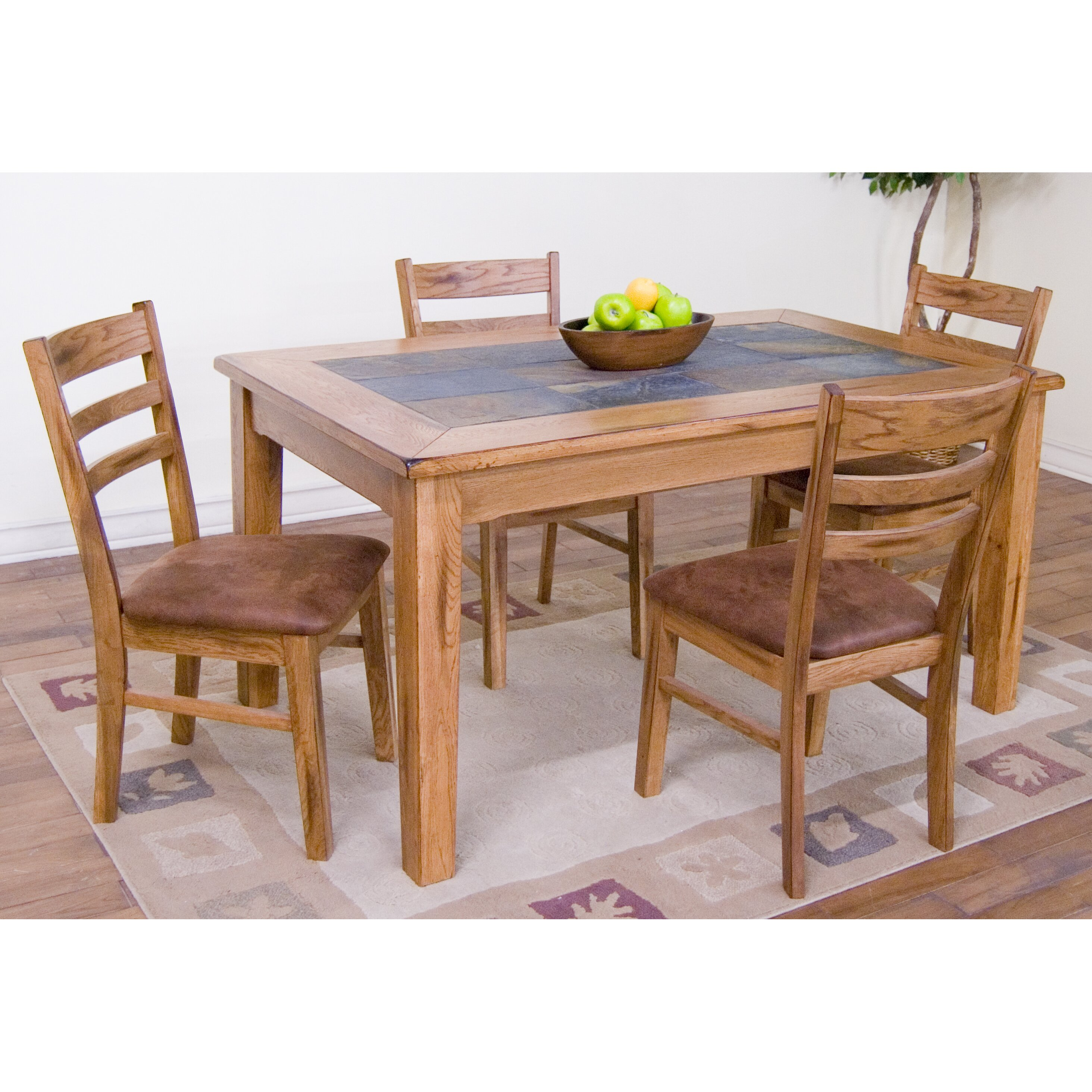 Sunny designs sedona 5 piece dining set reviews wayfair for Html table th always on top