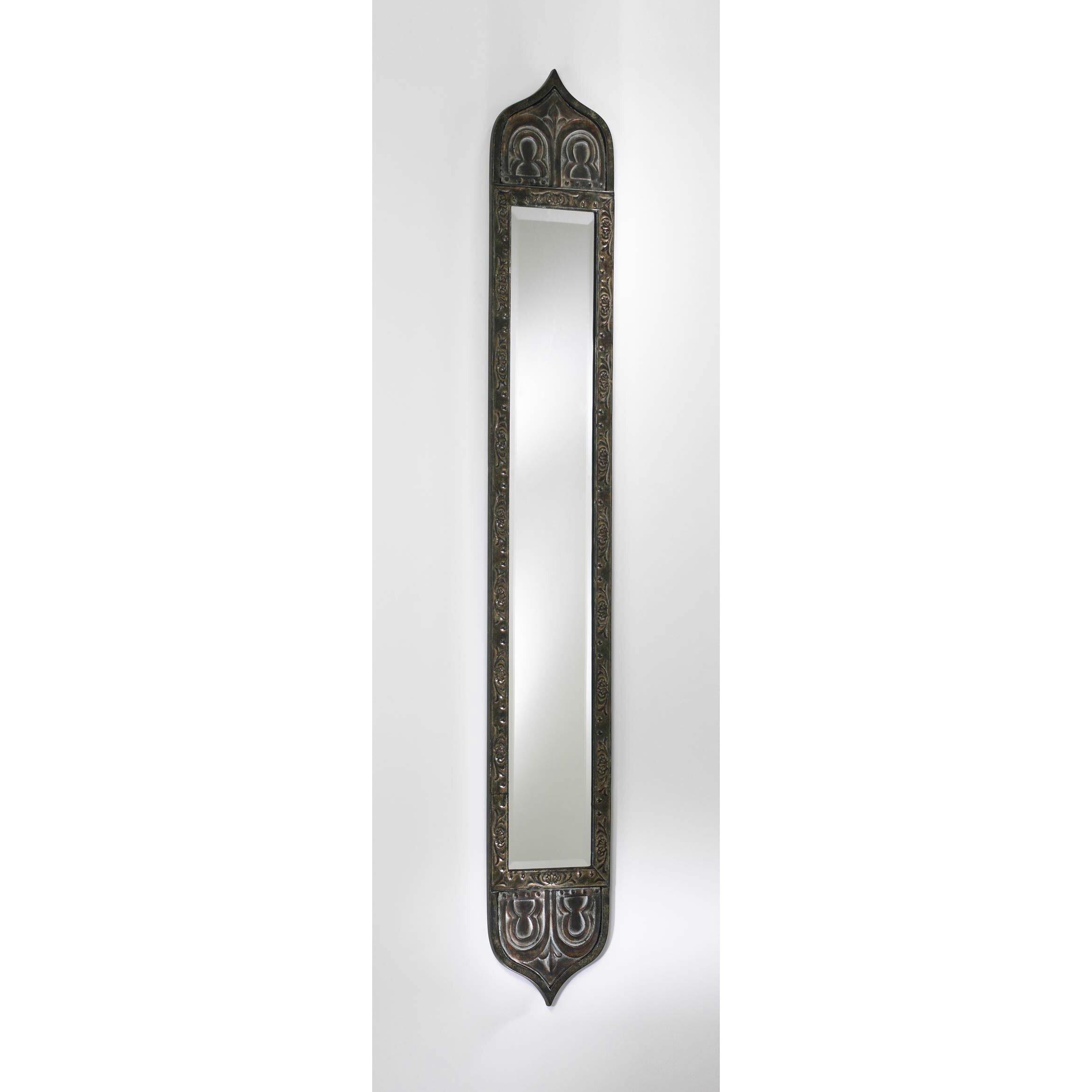 Cyan design skinny tall wall mirror reviews wayfair for Skinny wall mirror