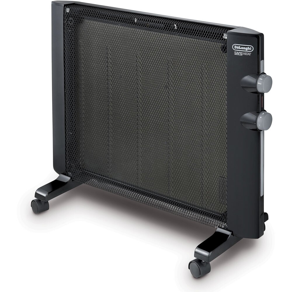 Delonghi mica 1 500 watt portable electric radiant panel for Electric radiant heat thermostat