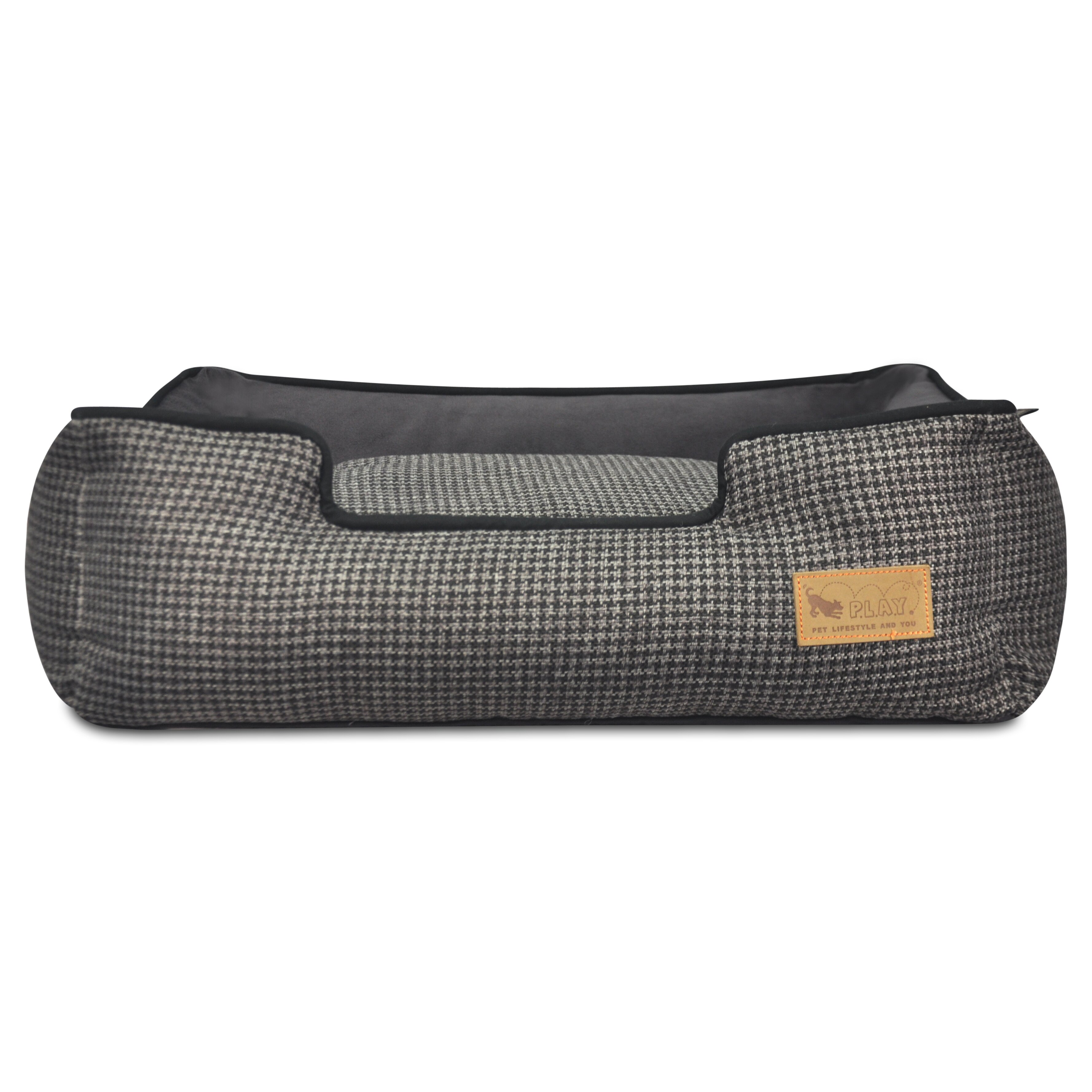 P L A Y Houndstooth Lounge Dog Bed Pyz