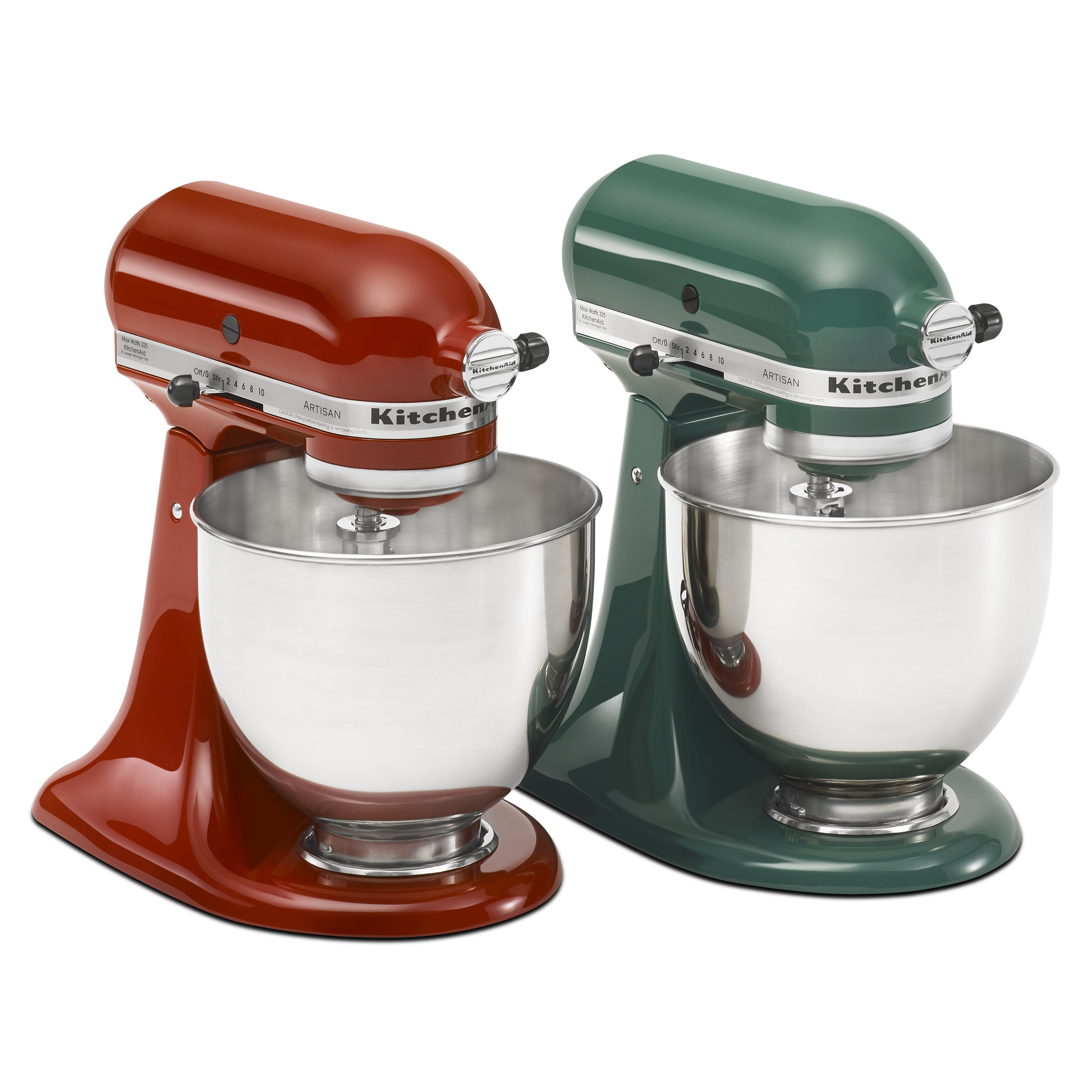 Kitchenaid artisan series 5 qt stand mixer with stainless steel glass bowls reviews wayfair - Kitchenaid artisan qt stand mixer attachments ...